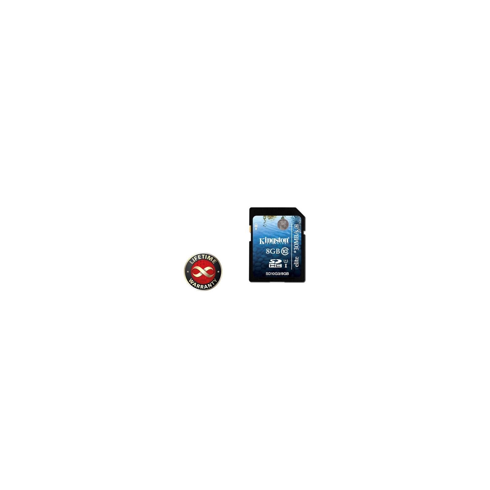 Карта памяти Kingston 8Gb SDHC class 10 UHS-I Elite Generation 3 (SD10G3/8GB)