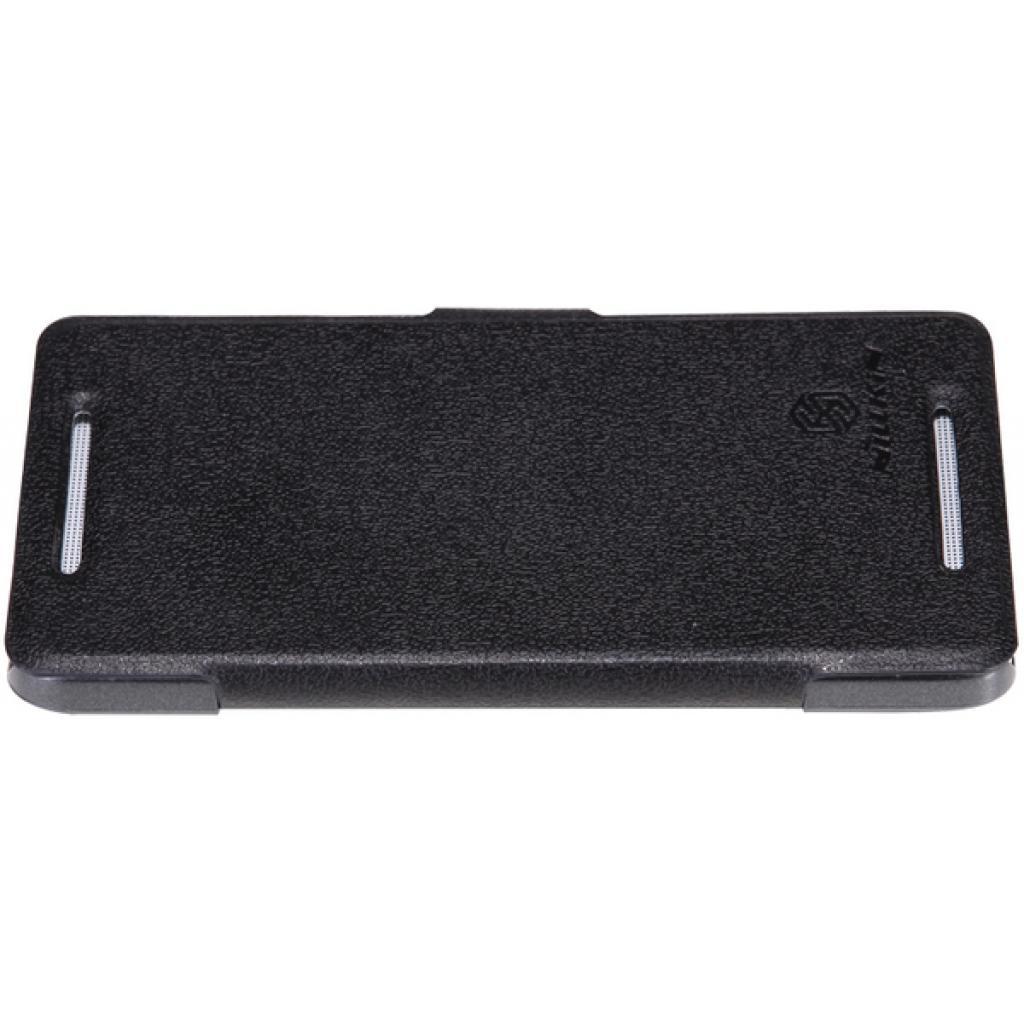Чехол для моб. телефона NILLKIN для HTC ONE Dual 802w- Fresh/ Leather/Blac (6076836) изображение 3