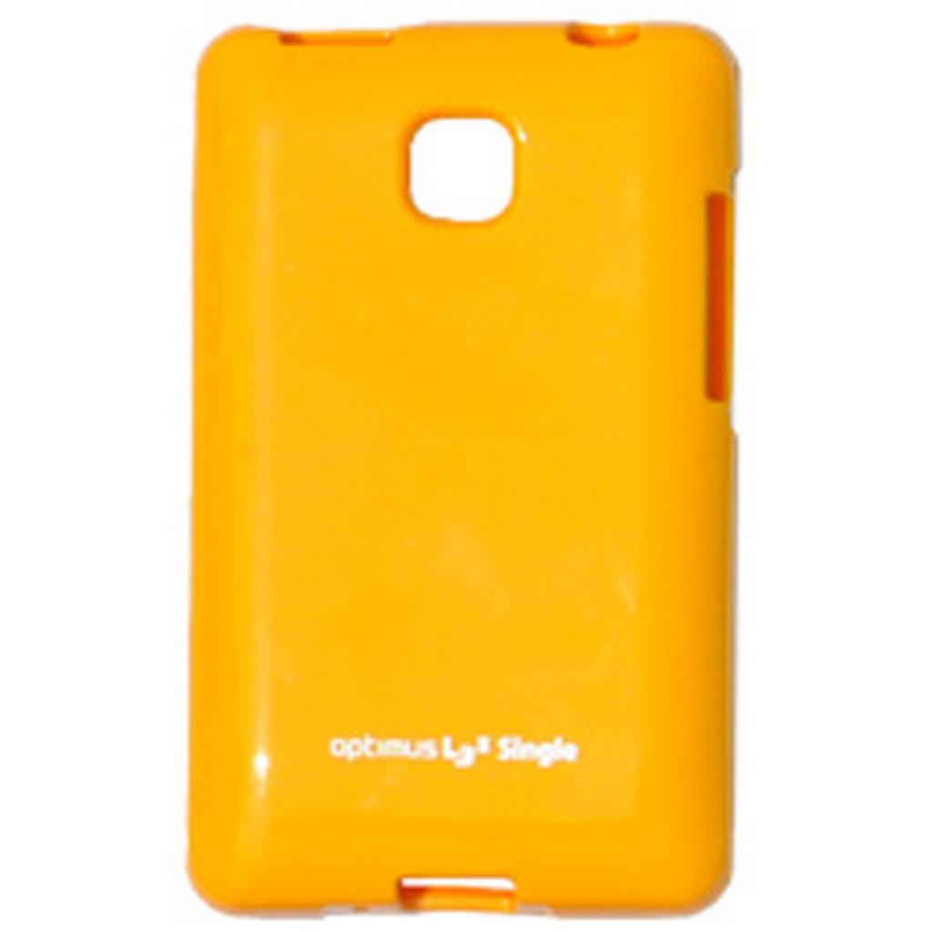 Чехол для моб. телефона VOIA для LG E425 Optimus L3II /Jelly/Yellow (6068162)