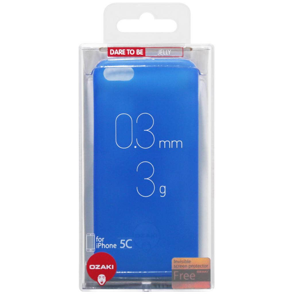 Чехол для моб. телефона OZAKI iPhone 5C O!coat 0.3 Jelly Blue (OC546BU) изображение 4