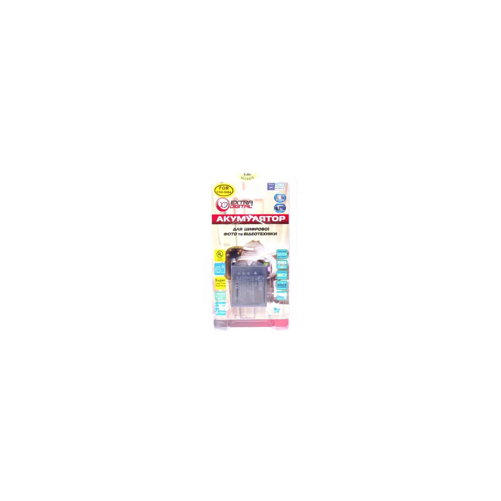Аккумулятор к фото/видео EXTRADIGITAL Panasonic S004 (DV00DV1098) изображение 3