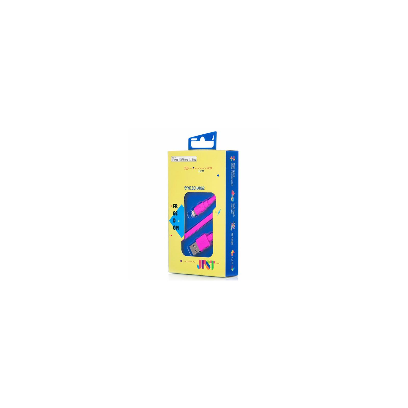 Дата кабель JUST Freedom Lightning USB Cable Pink (LGTNG-FRDM-PNK) изображение 3