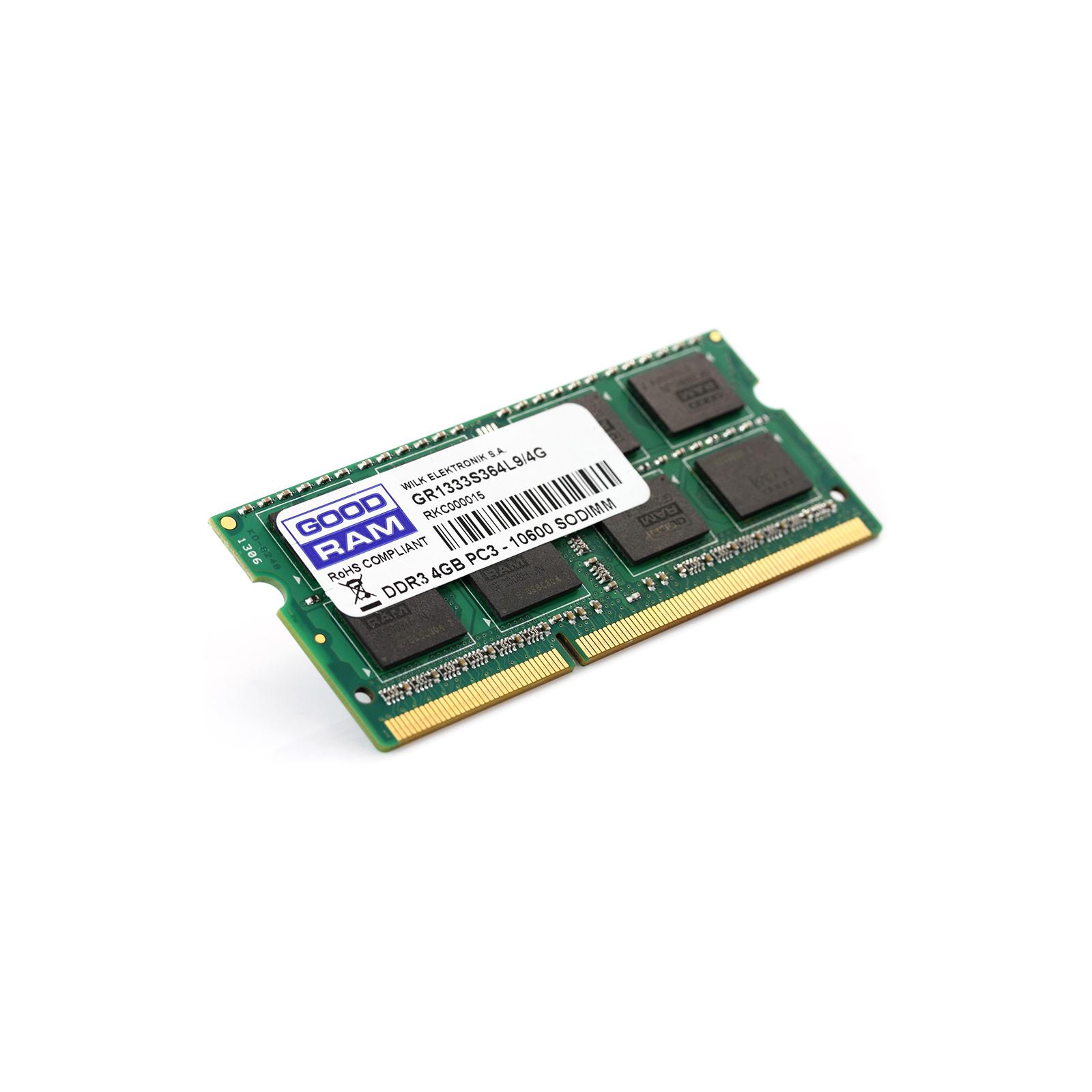 Модуль памяти для ноутбука SoDIMM DDR3 4GB 1333 MHz GOODRAM (GR1333S364L9/4G)