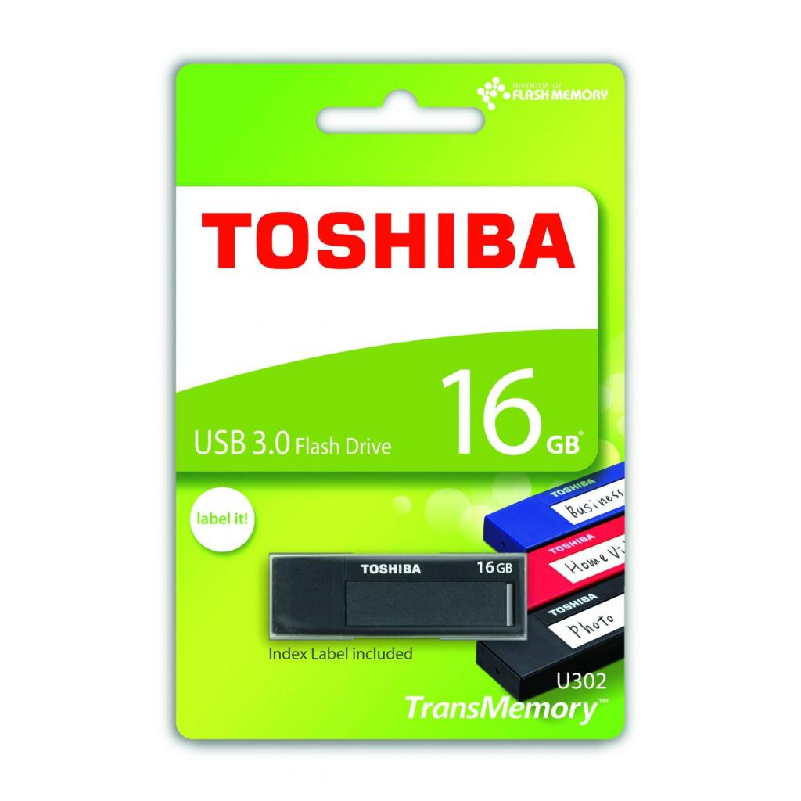 USB флеш накопитель TOSHIBA 16GB Daichi Black USB 3.0 (THN-U302K0160M4) изображение 4