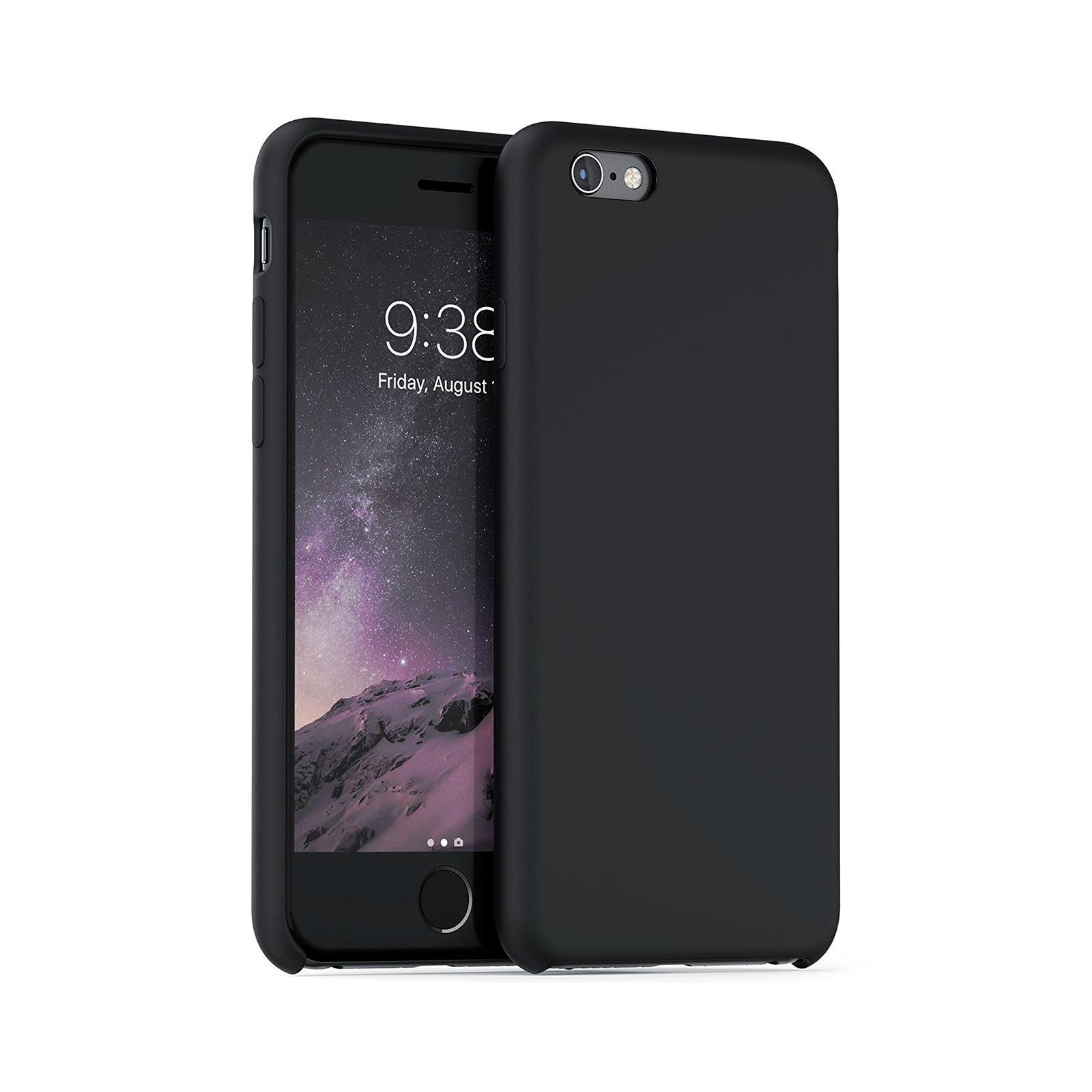 Чехол для моб. телефона Laudtec для iPhone 6/6s liquid case (black) (LT-I6LC)