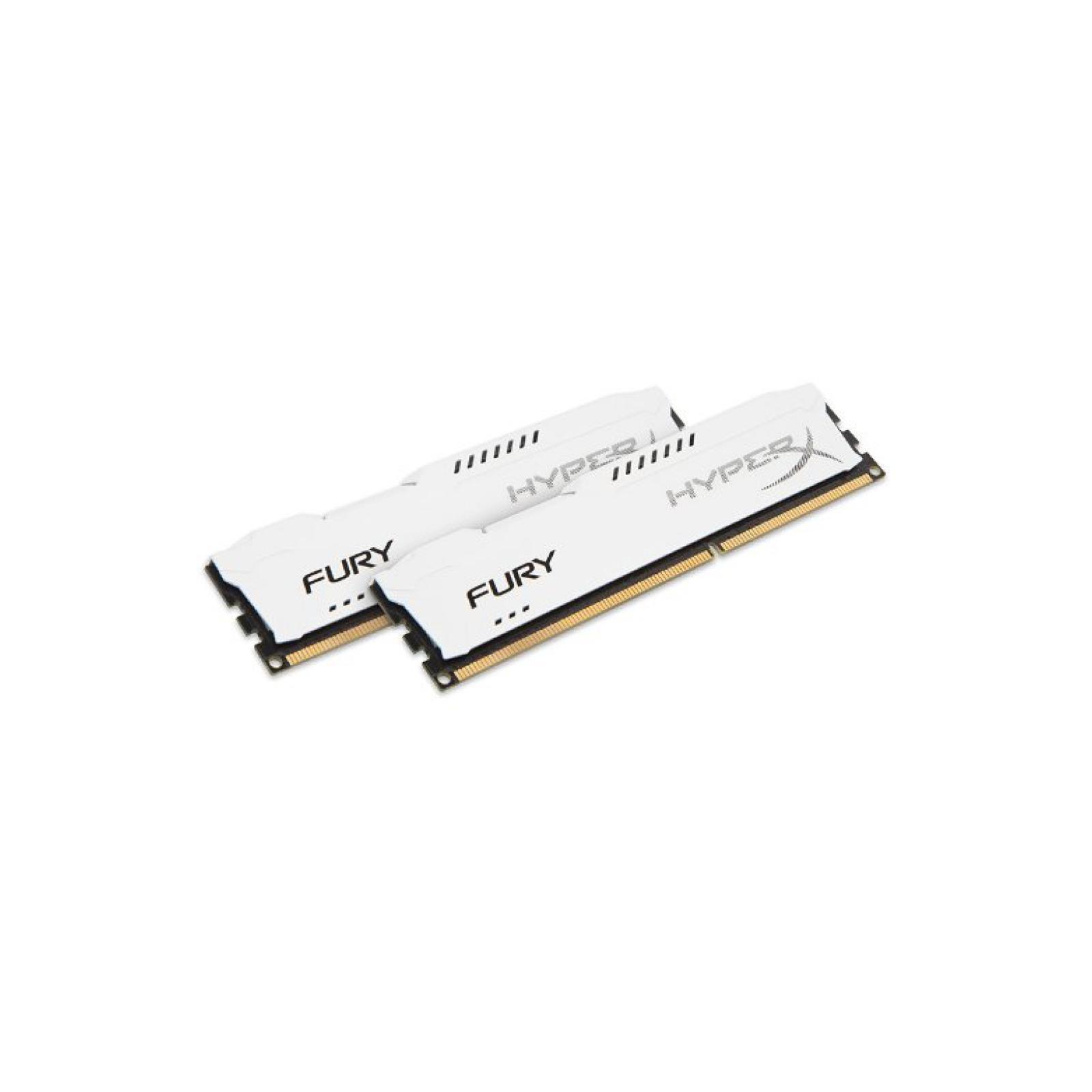 Модуль памяти для компьютера DDR4 32GB (2x16GB) 2933 MHz HyperX FURY White HyperX (Kingston Fury) (HX429C17FWK2/32) изображение 2