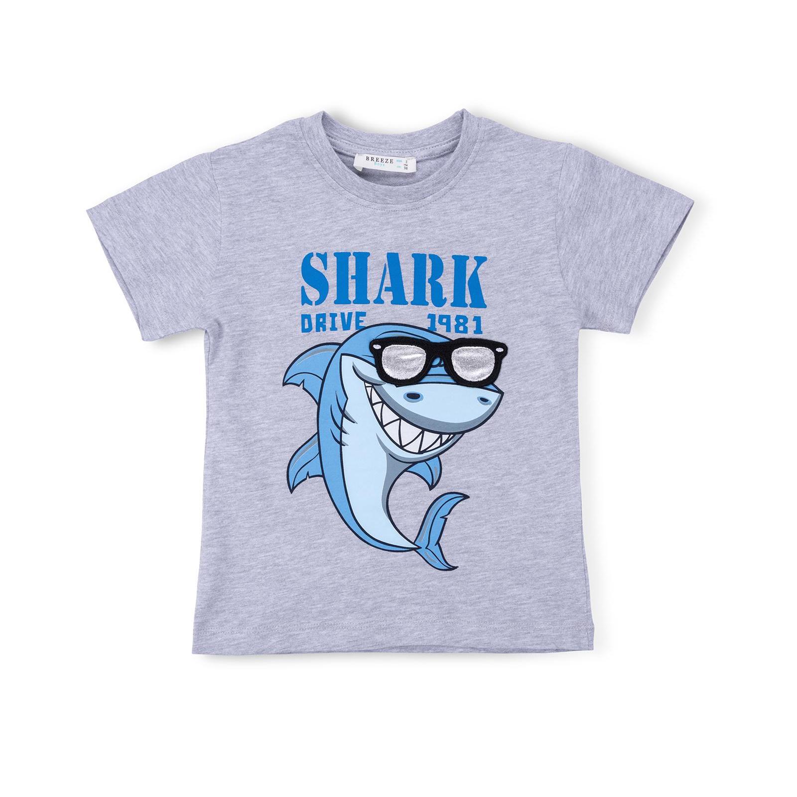 Набор детской одежды Breeze с акулой в очках (10931-98B-beige) изображение 2