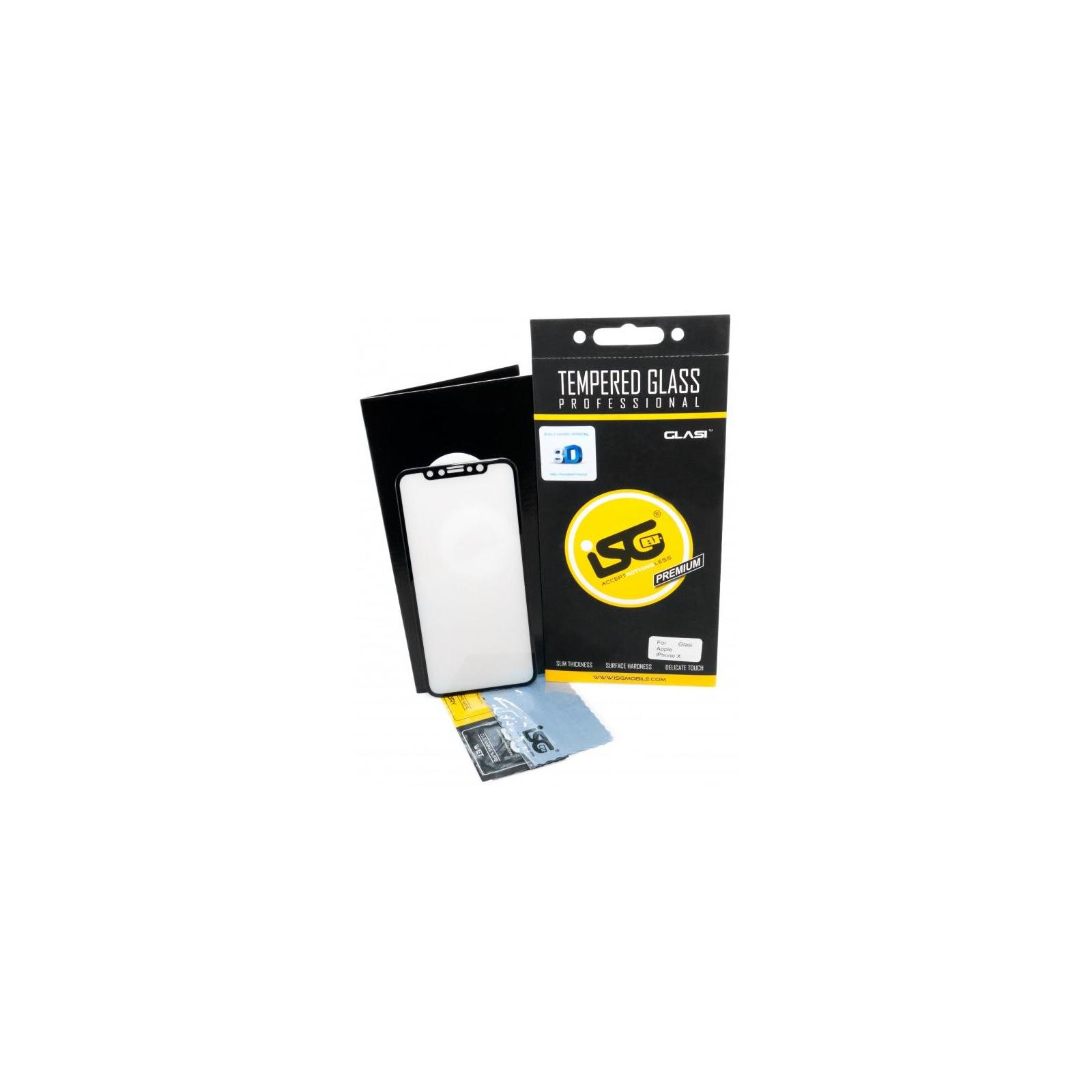 Стекло защитное iSG для Apple iPhone X 3D Full Cover Black (SPG4407)