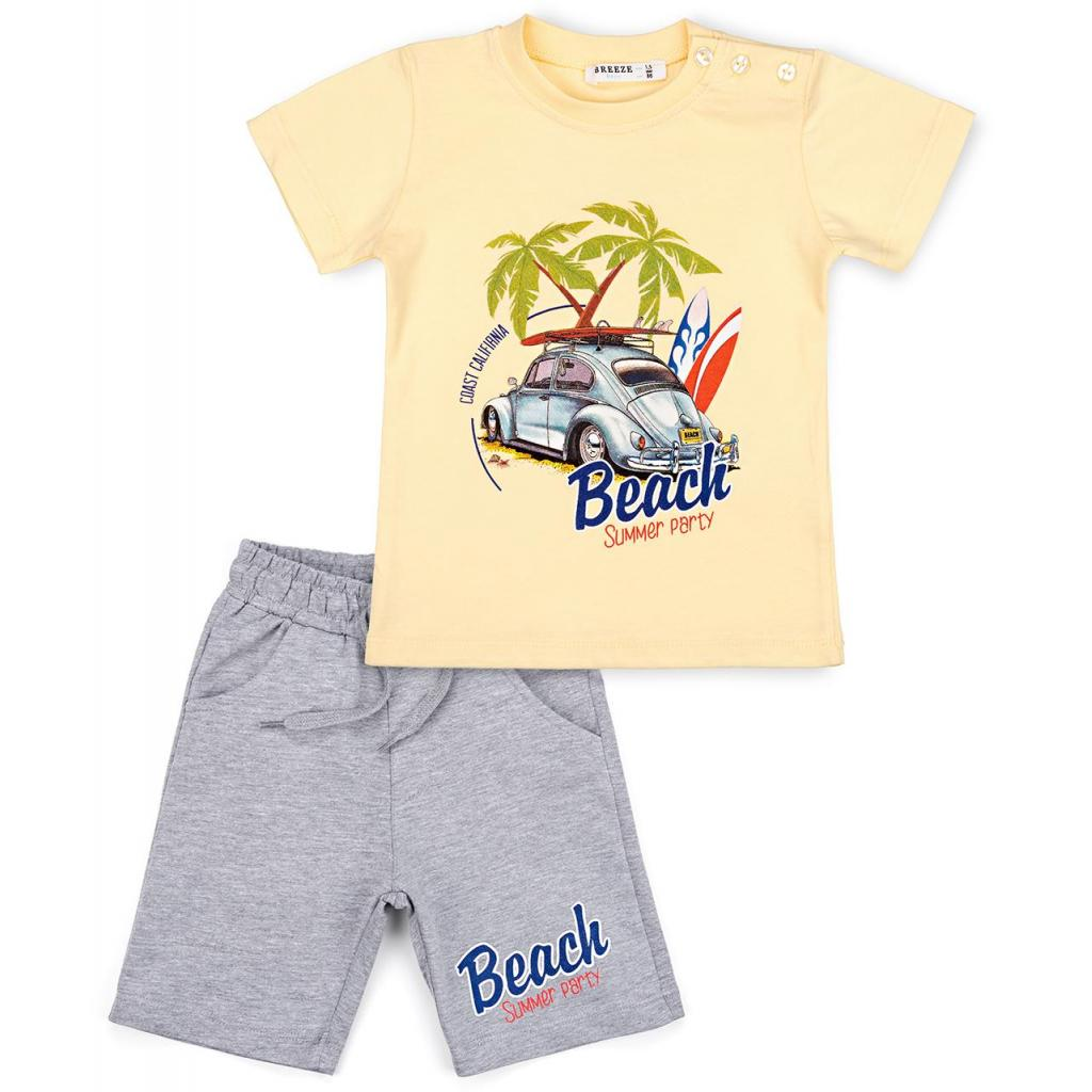 Набор детской одежды Breeze с машинкой (10940-110B-yellow)