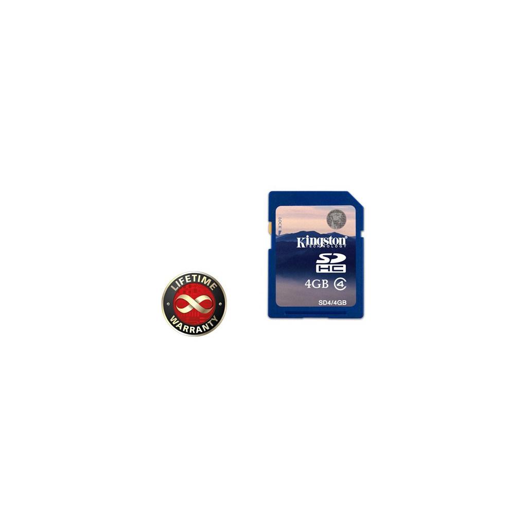 Карта памяти 4Gb SDHC class 4 Kingston (SD4/4GB)