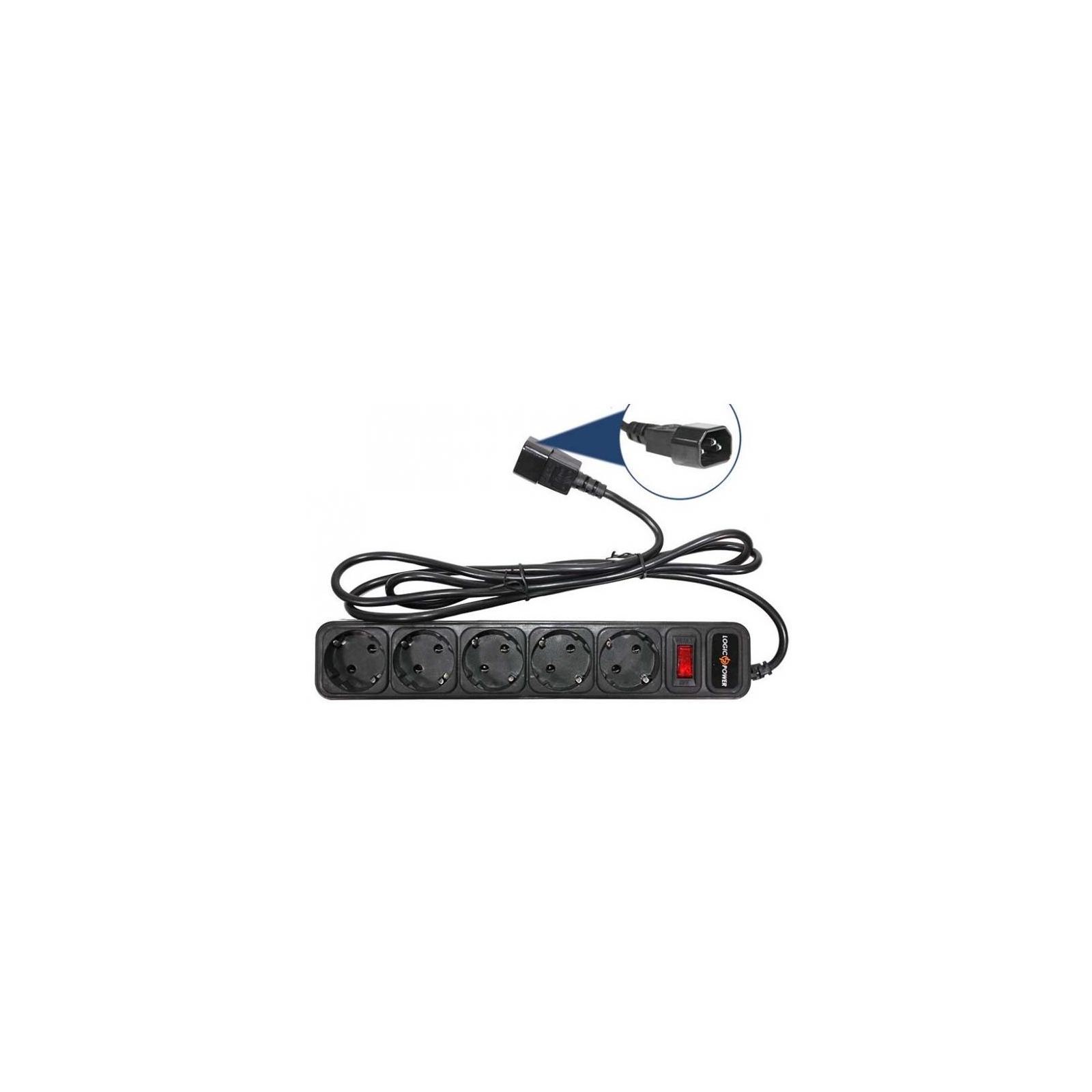 Сетевой фильтр питания LogicPower LP-X5-UPS 2.0м, 0,75mm2, 10A (2753)