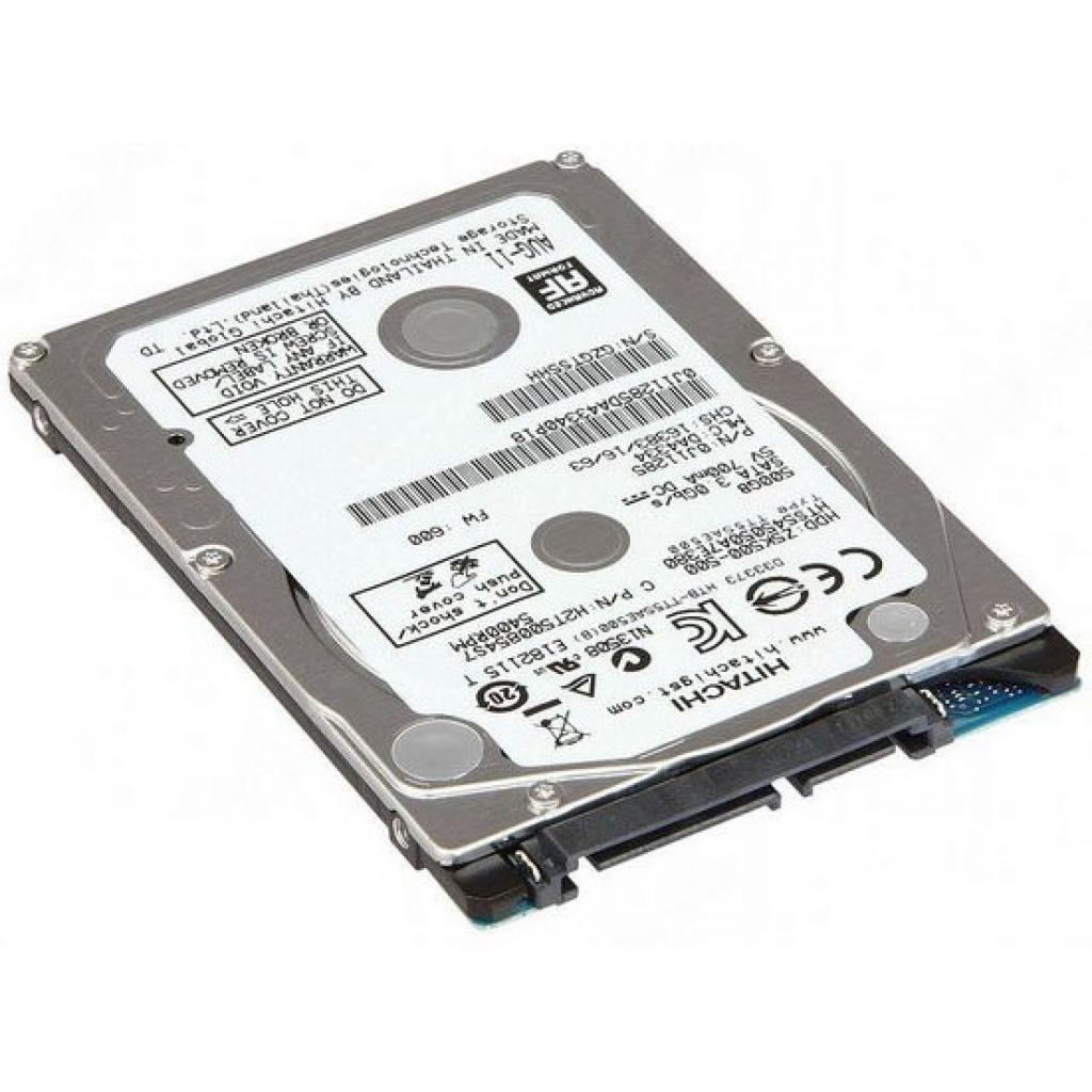 """Жесткий диск для ноутбука 2.5"""" 500GB Hitachi HGST (0J26055 / HTE725050A7E630)"""