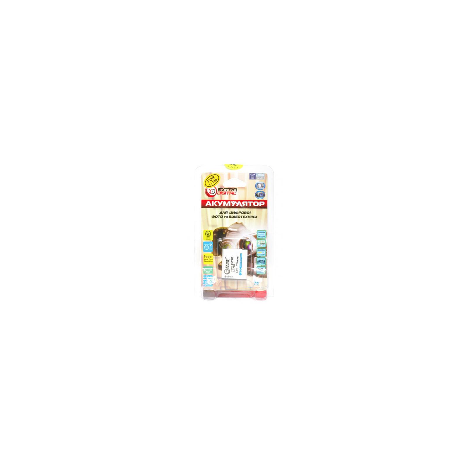 Аккумулятор к фото/видео EXTRADIGITAL Olympus LI-70B (BDO2541) изображение 3