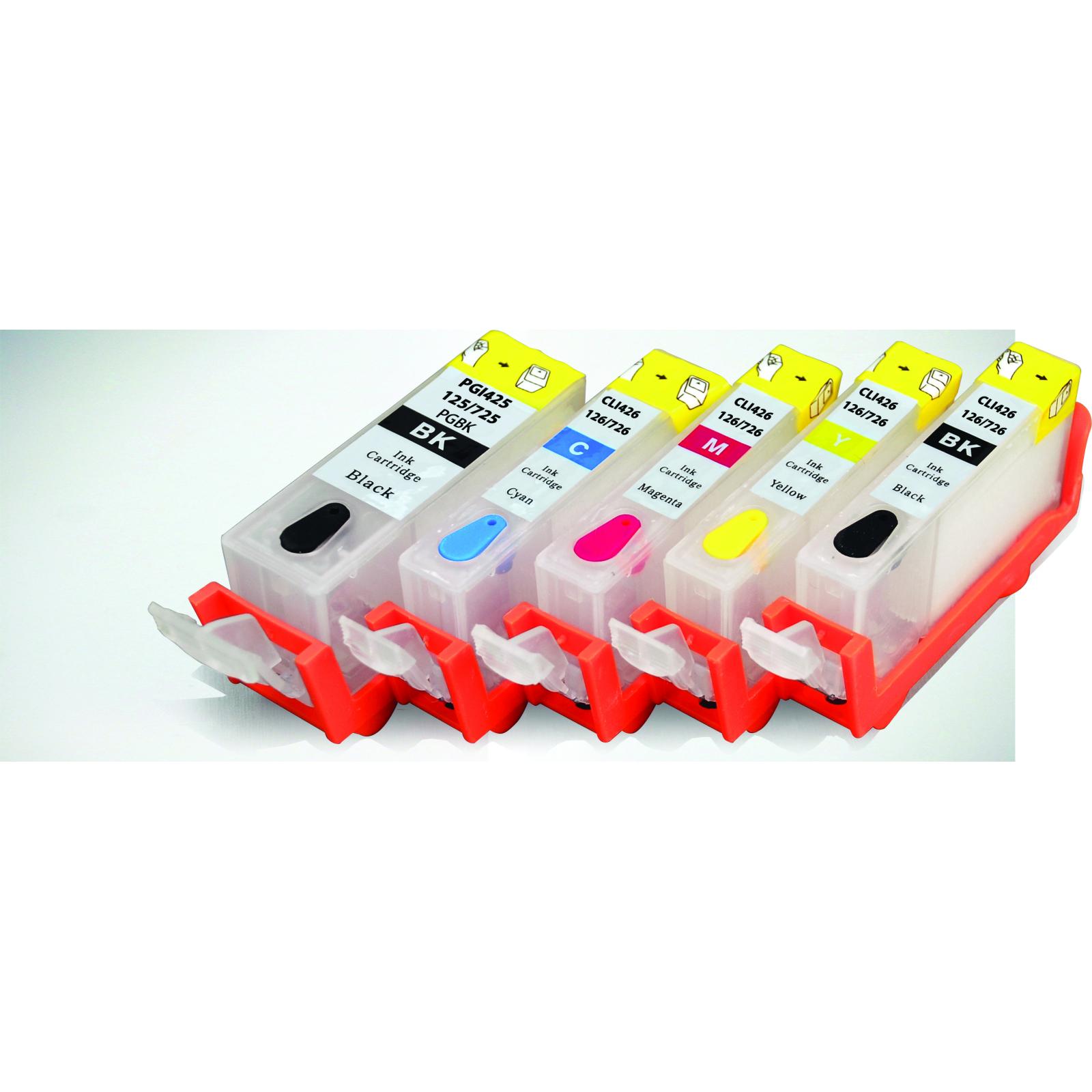 Комплект перезаправляемых картриджей PATRON CANON MG5140//5240/5340 (5шт)без чрн (CIR-PN-CPGI425C-043) изображение 2
