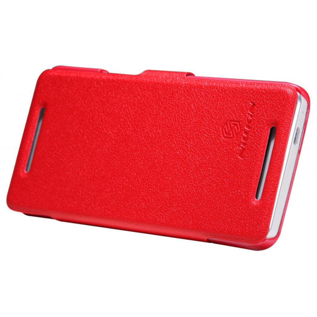 Чехол для моб. телефона NILLKIN для HTC ONE Dual 802w- Fresh/ Leather/Red (6076838) изображение 3
