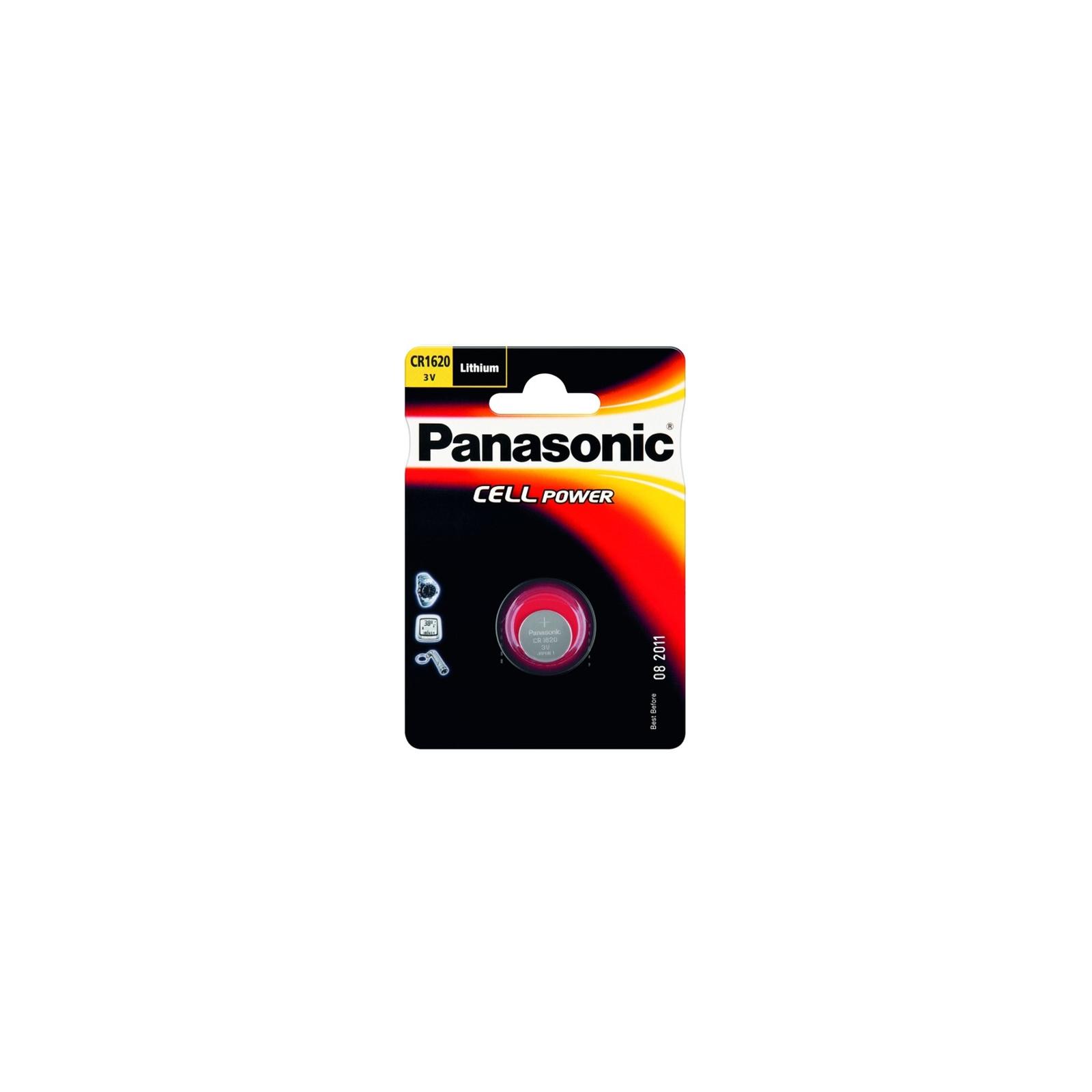 Батарейка PANASONIC CR 1620 * 1 LITHIUM (CR-1620EL/1B)