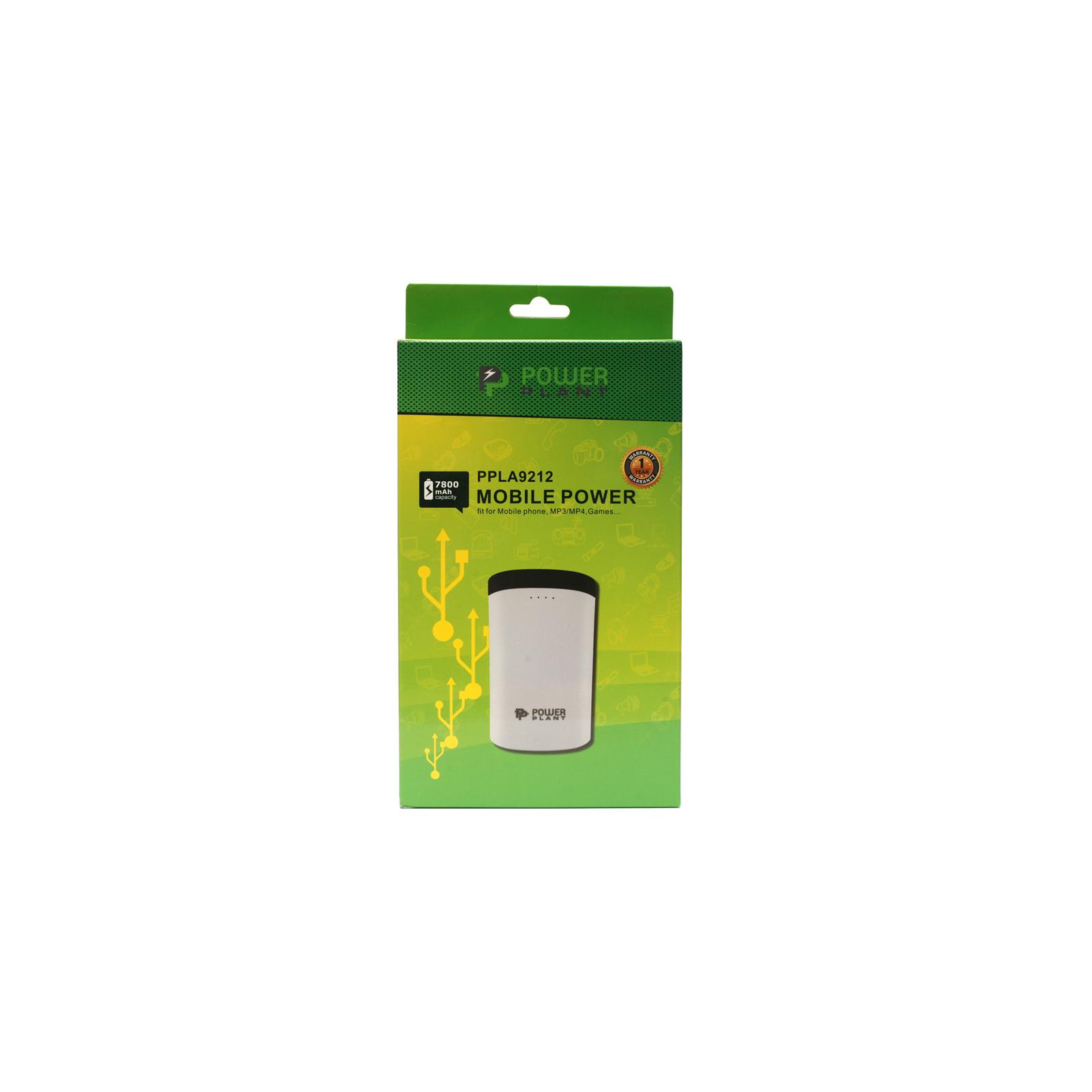 Батарея универсальная PowerPlant PB-LA9212 7800mAh 1*USB/1A, 1*USB/2A (PPLA9212) изображение 5