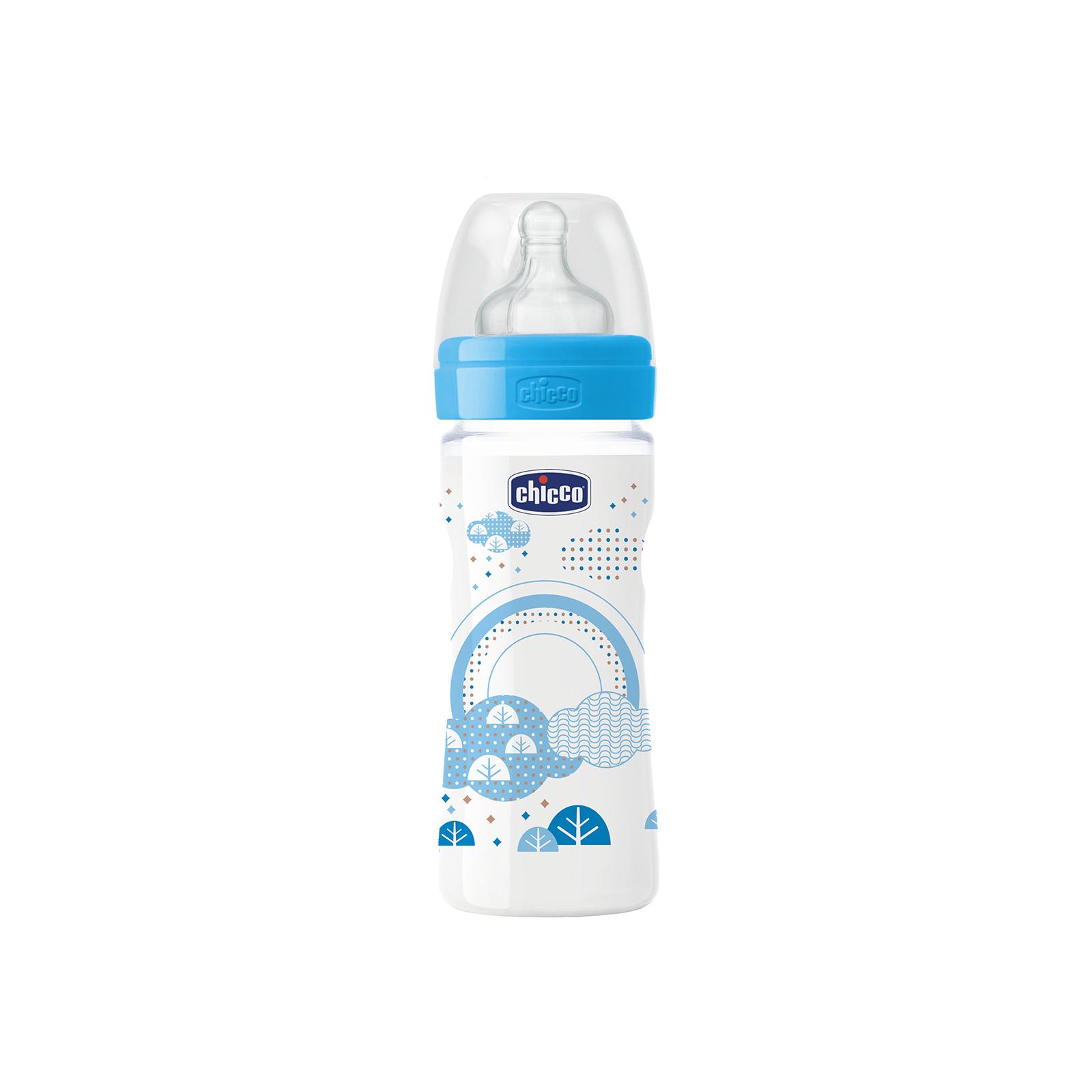Бутылочка для кормления Chicco Well-Being 250 мл с силиконовой соской (70723.20.04)