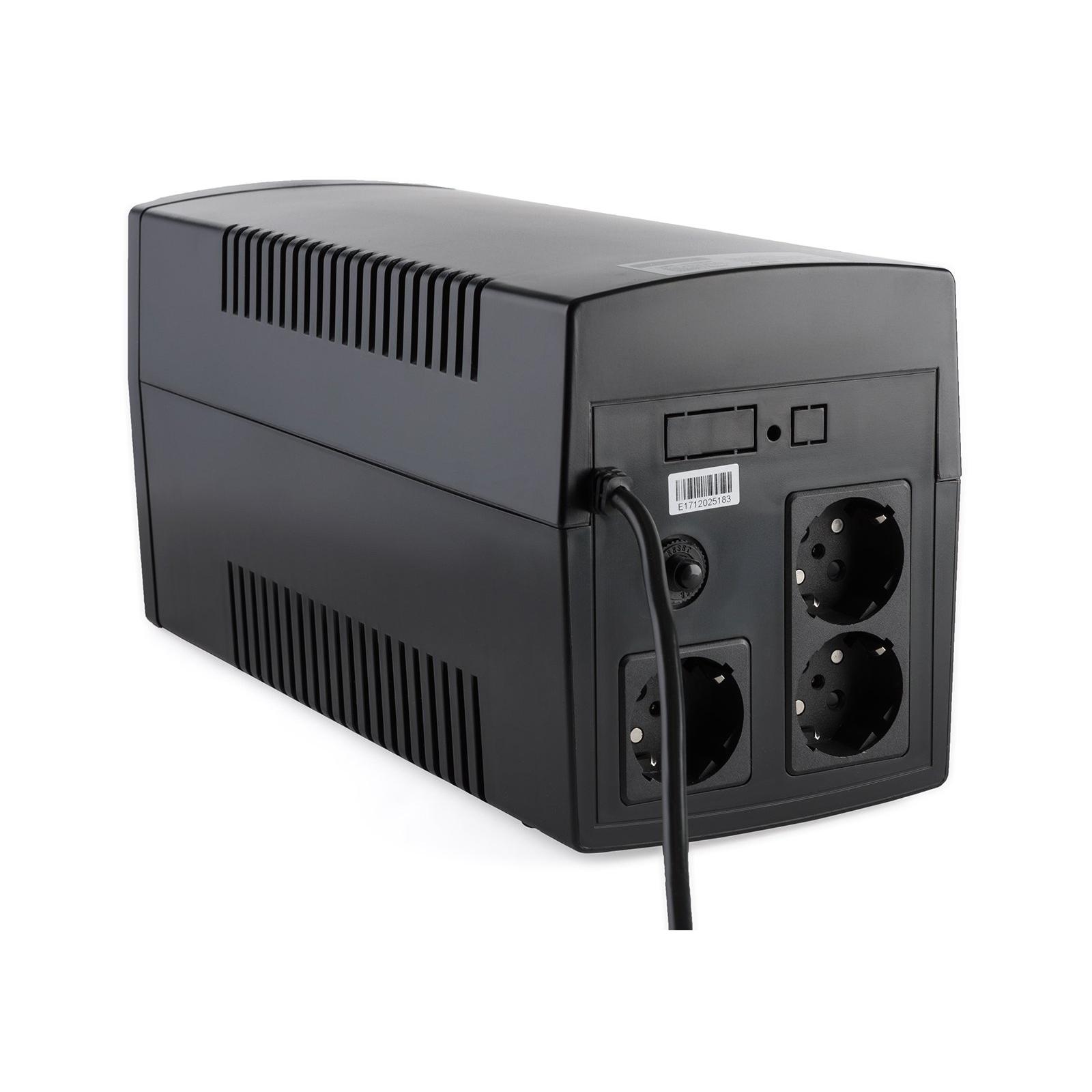 Источник бесперебойного питания Vinga LCD 1200VA plastic case (VPC-1200P) изображение 8
