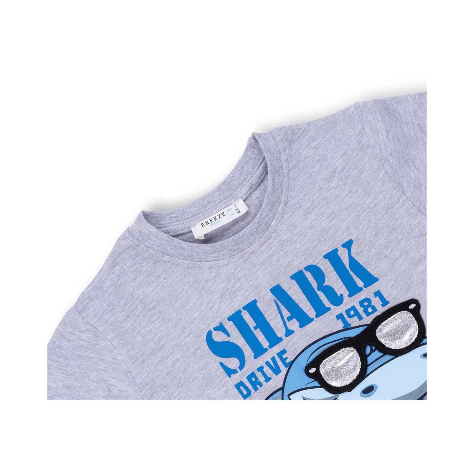 Набор детской одежды Breeze с акулой в очках (10931-110B-beige) изображение 7