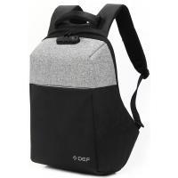 """Рюкзак для ноутбука DEF 15.6"""" DW-01 anti-theft black-gray (378537)"""