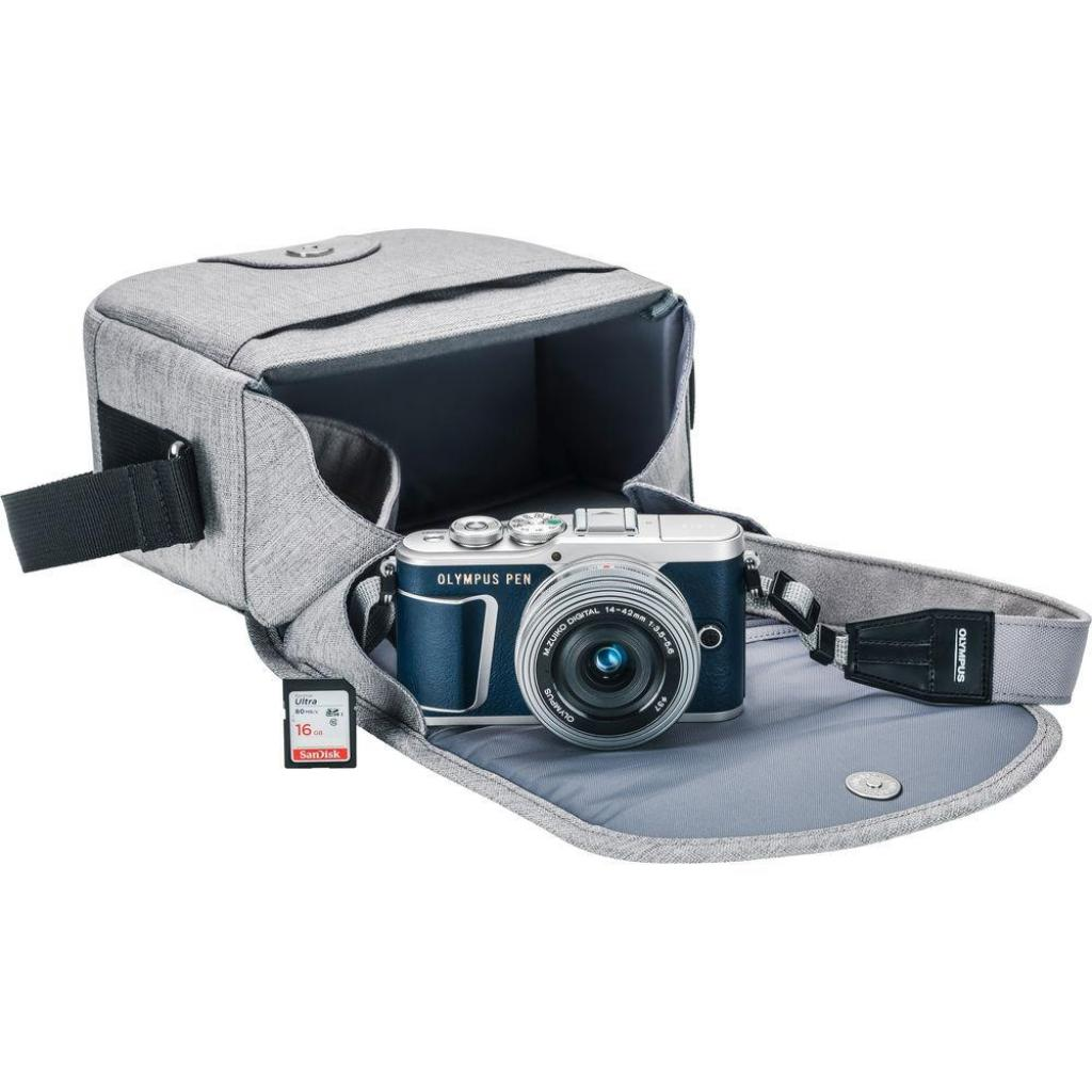 Цифровой фотоаппарат OLYMPUS E-PL9 14-42 mm Pancake Zoom Kit blue/silver (V205092UE000) изображение 8