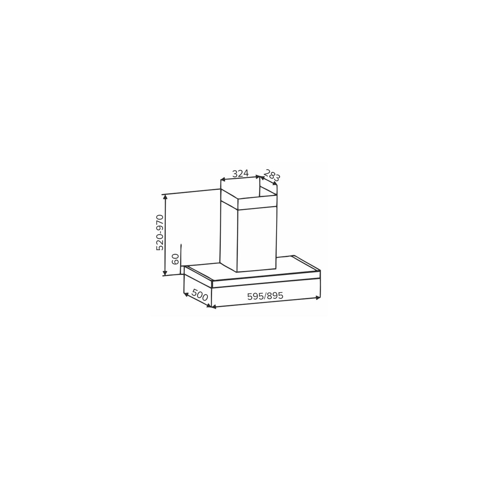 Вытяжка кухонная INTERLINE CUBA X/BL 90 TB/2/T изображение 5