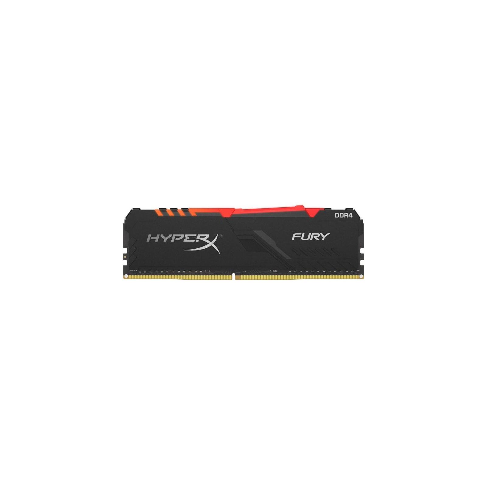 Модуль пам'яті для комп'ютера DDR4 8GB 3200 MHz HyperX FURY RGB Kingston (HX432C16FB3A/8)