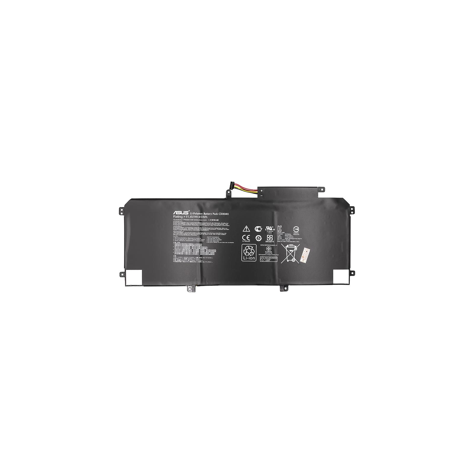 Аккумулятор для ноутбука ASUS Zenbook UX305 (C31N1411) 11.4V 45Wh (NB430901) изображение 2