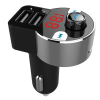 FM модулятор Vention Bluetooth 4.2 support microSD (HK203)