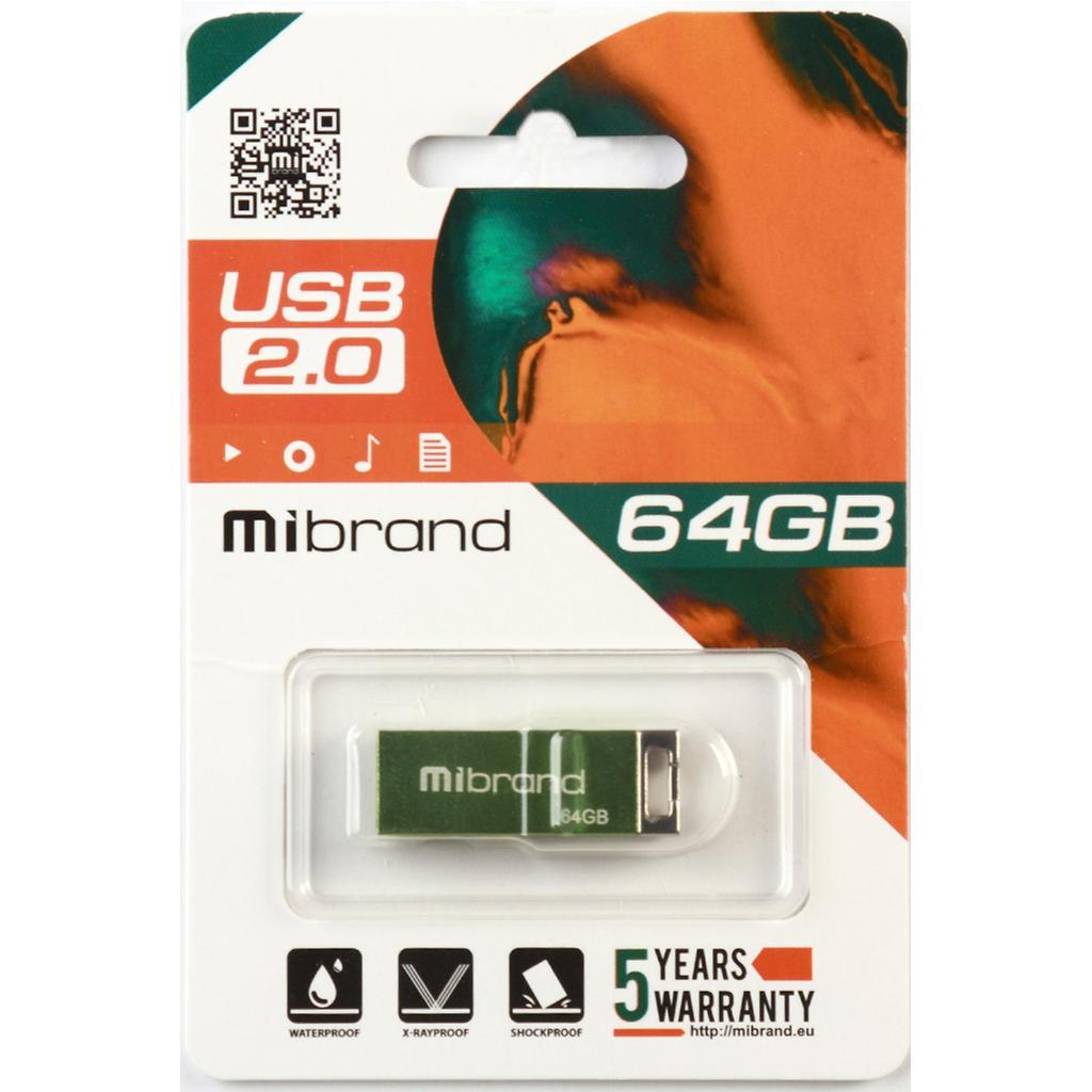 USB флеш накопитель Mibrand 64GB Сhameleon Silver USB 2.0 (MI2.0/CH64U6S) изображение 2