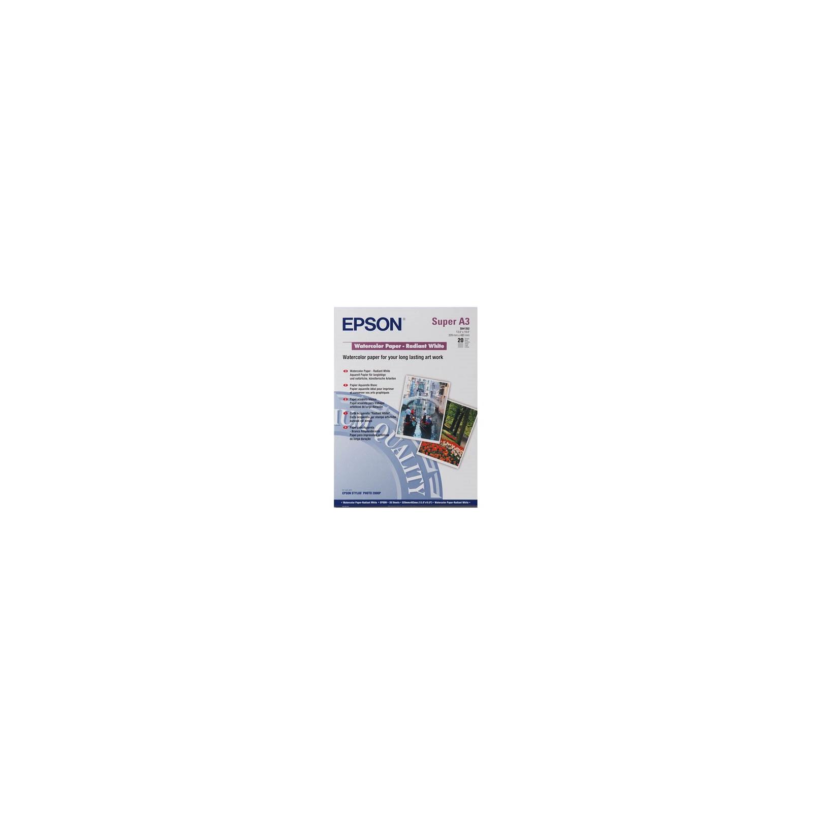 Бумага EPSON A3+ Watercolor Paper-Radiant White (C13S041352)