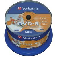 Диск DVD Verbatim 4.7Gb 16X CakeBox 50шт Print (43649)