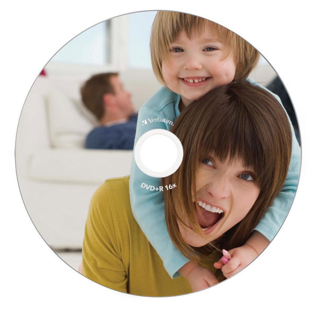 Диск DVD Verbatim 4.7Gb 16X Jewelcase 10шт Printable (43508) изображение 2