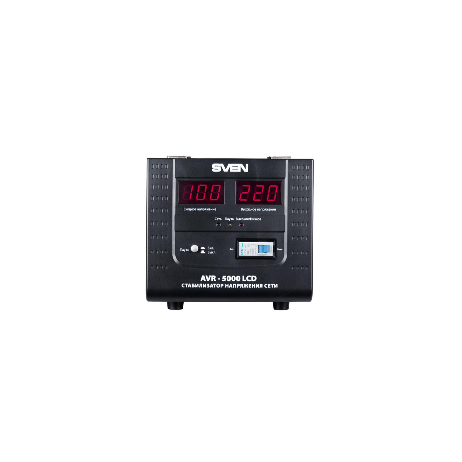 Стабилизатор SVEN AVR-5000 LCD изображение 2