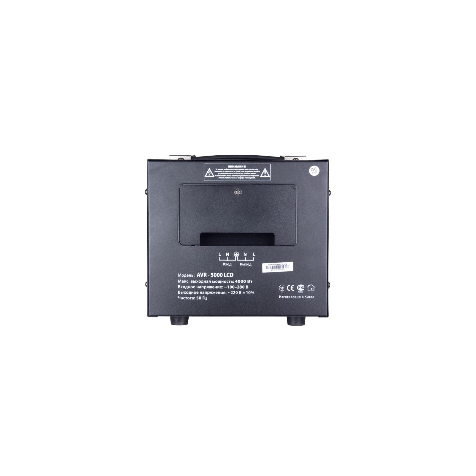 Стабилизатор SVEN AVR-5000 LCD изображение 3