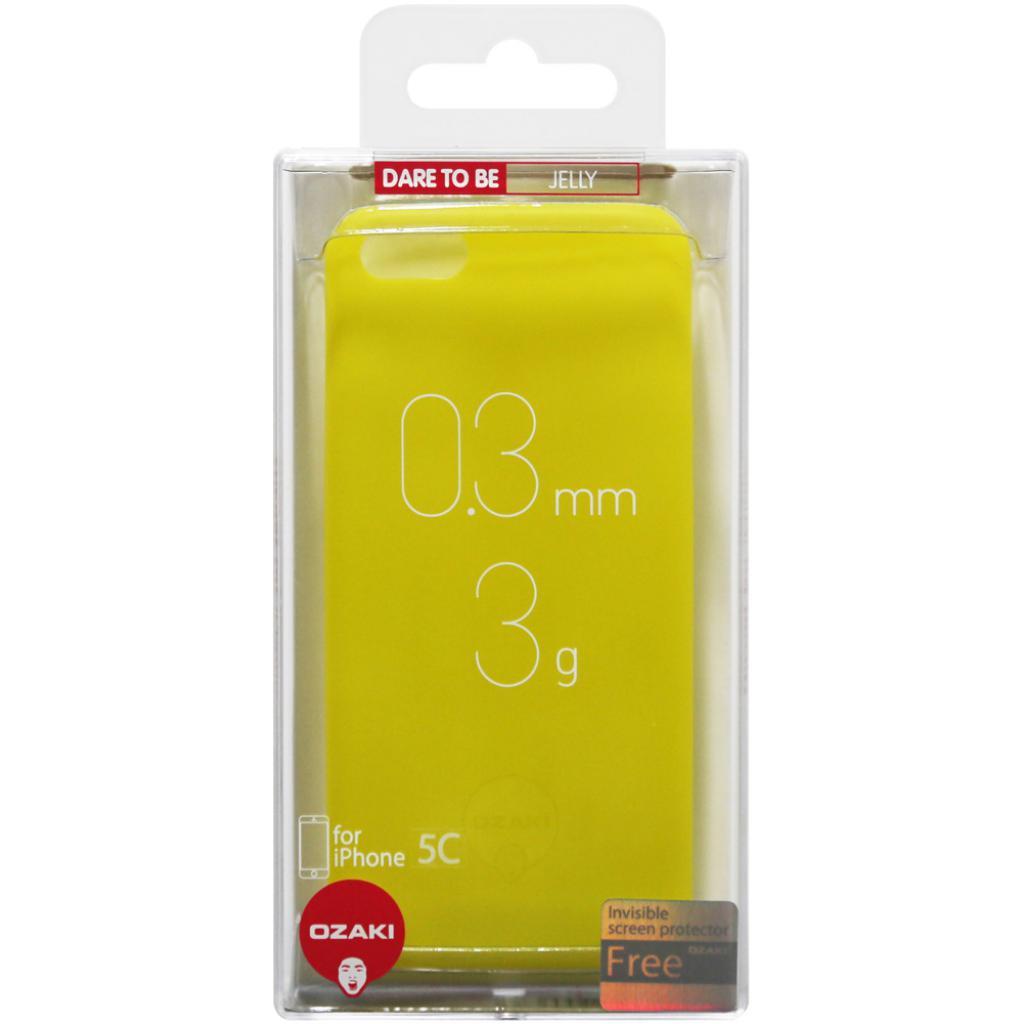 Чехол для моб. телефона OZAKI iPhone 5C O!coat 0.3 Jelly Yellow (OC546YL) изображение 4