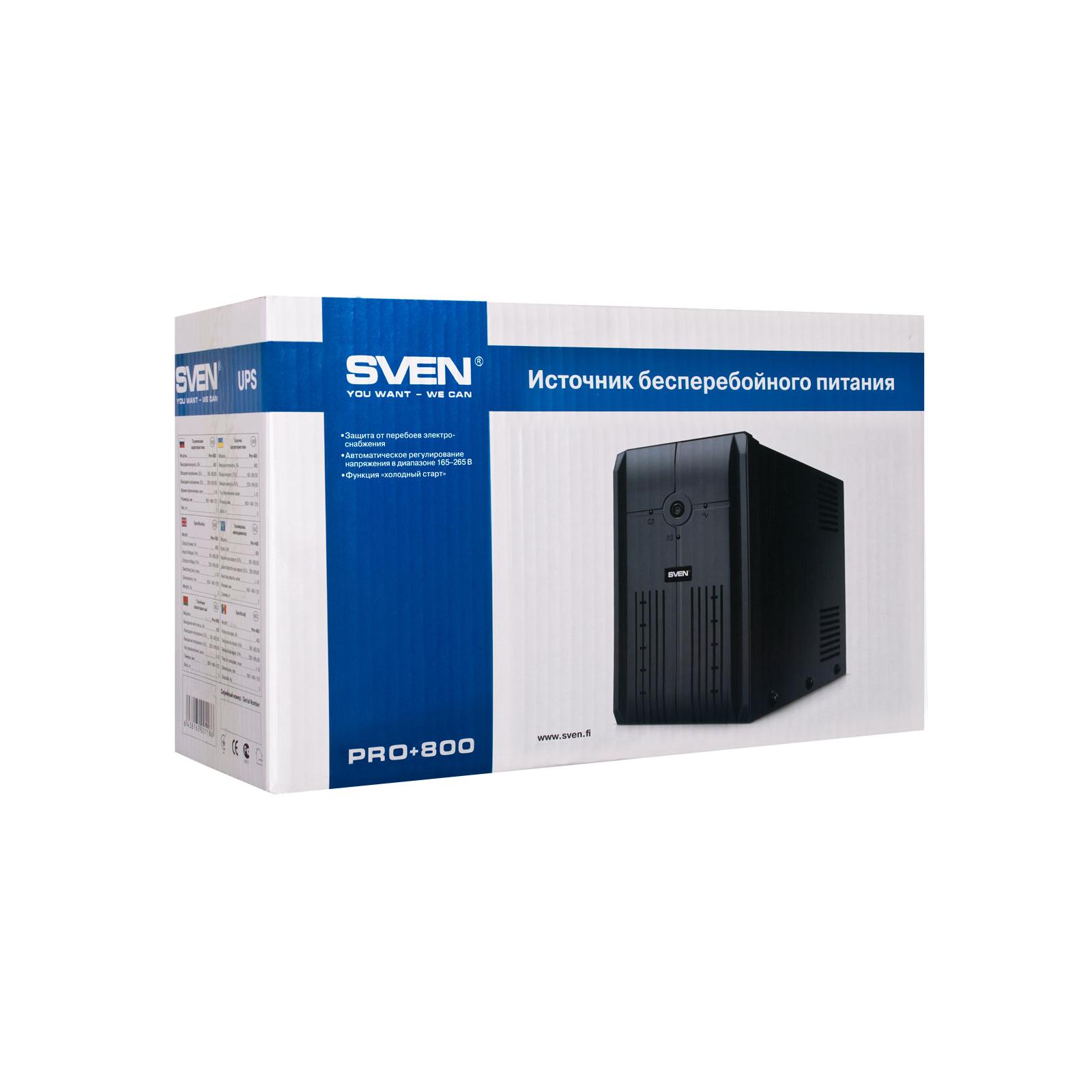 Источник бесперебойного питания SVEN Pro+ 800 USB (Pro+ 800) изображение 4