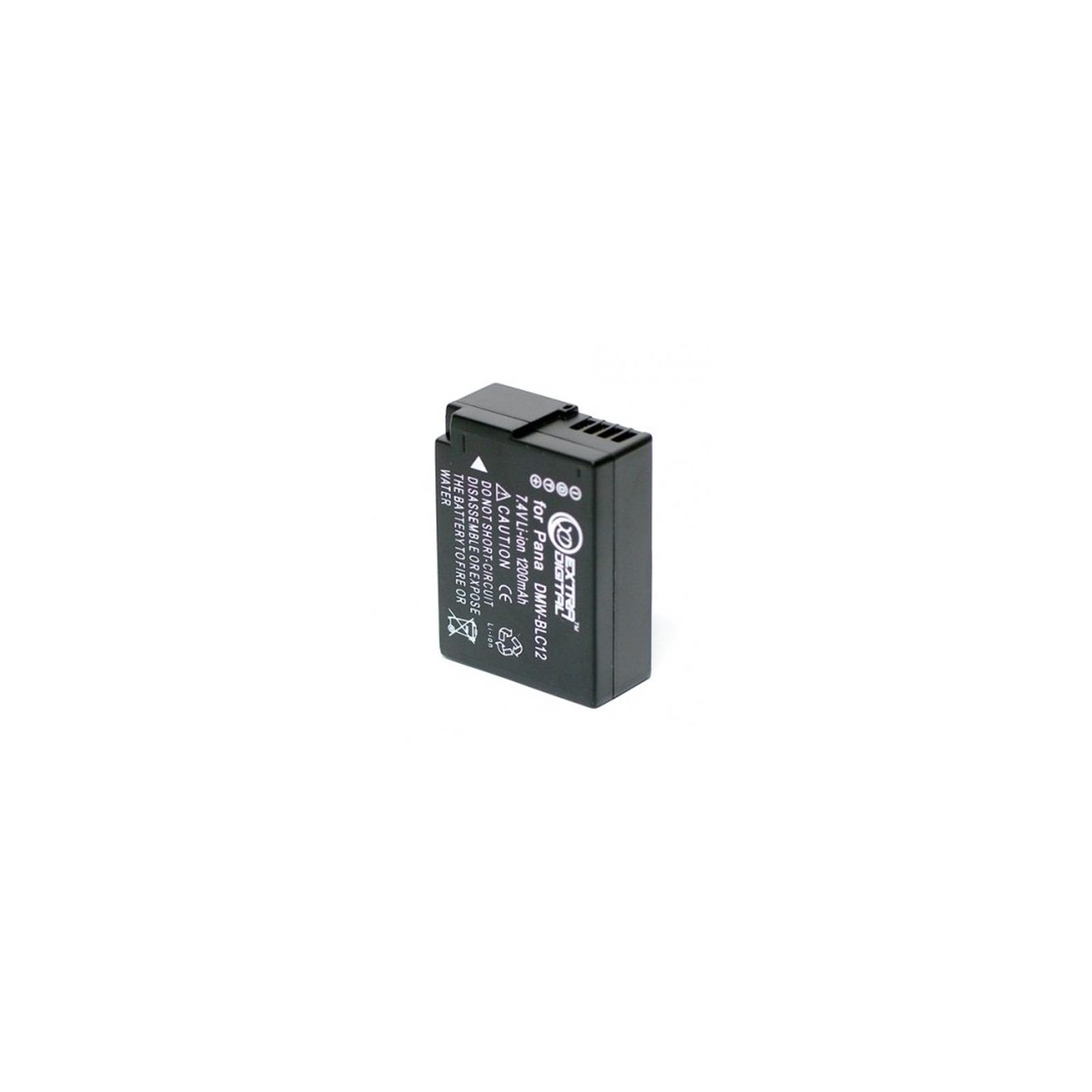 Аккумулятор к фото/видео EXTRADIGITAL Panasonic DMW-BLC12 (BDP2567) изображение 2