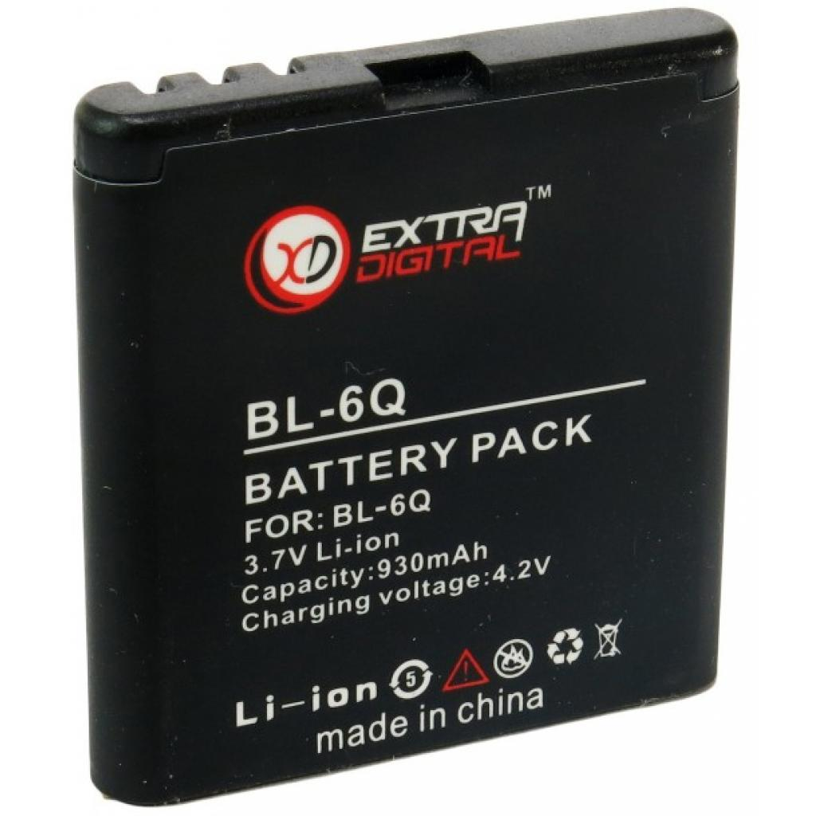 Аккумуляторная батарея EXTRADIGITAL Nokia BL-6Q (DV00DV6034) изображение 3