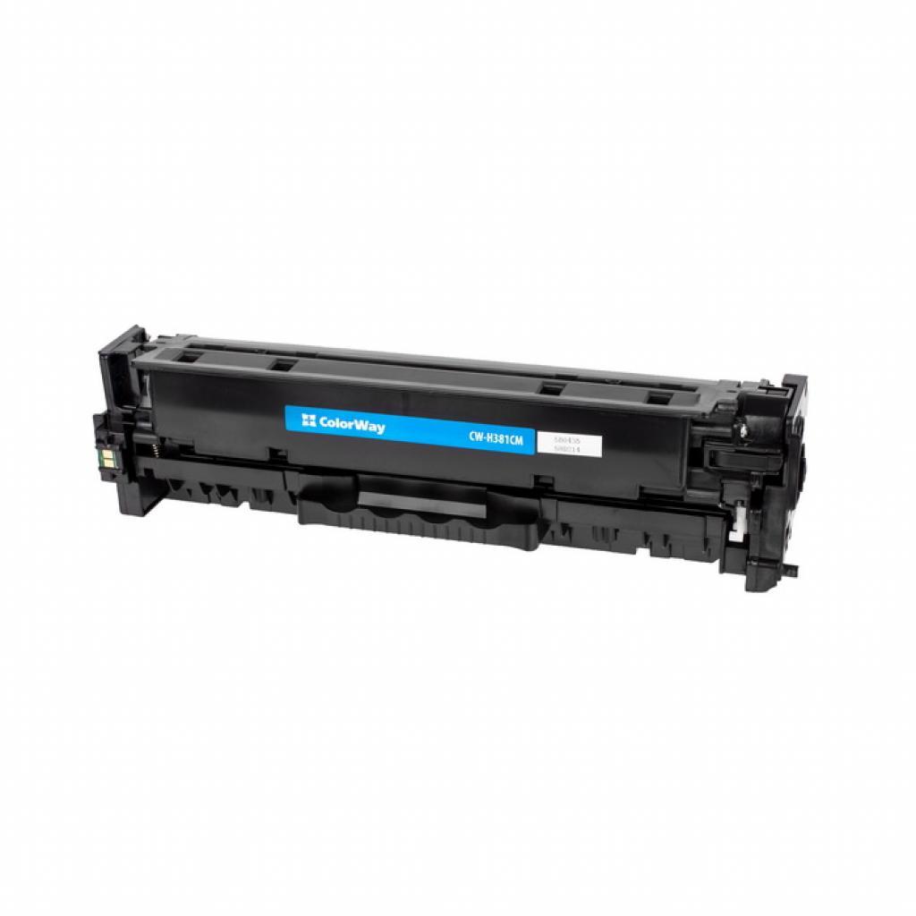 Картридж ColorWay для HP CLJ Pro M476 Cyan /CF381A (CW-H381CM)