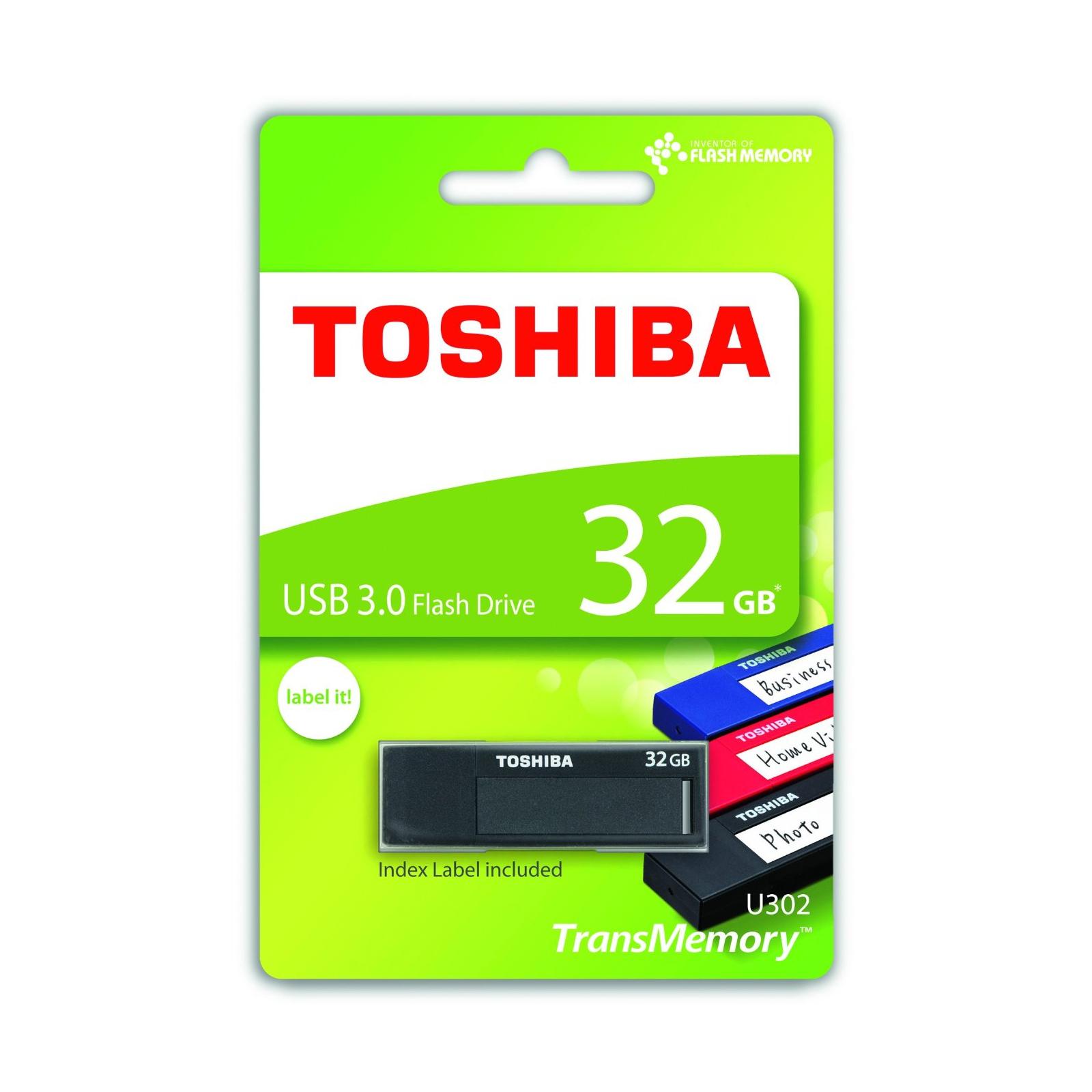 USB флеш накопитель TOSHIBA 32GB Daichi Black USB 3.0 (THN-U302K0320M4) изображение 3