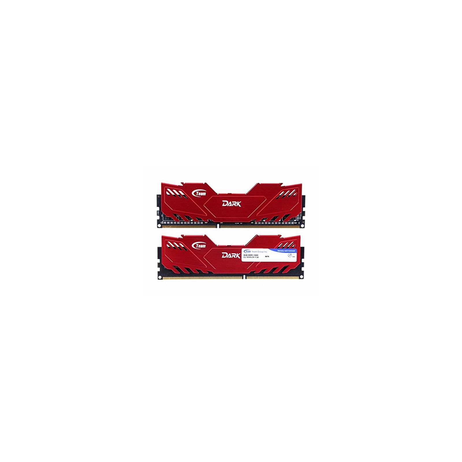 Модуль памяти для компьютера DDR4 16GB (2x8GB) 2666 MHz Dark Red Team (TDRED416G2666HC15ADC01)