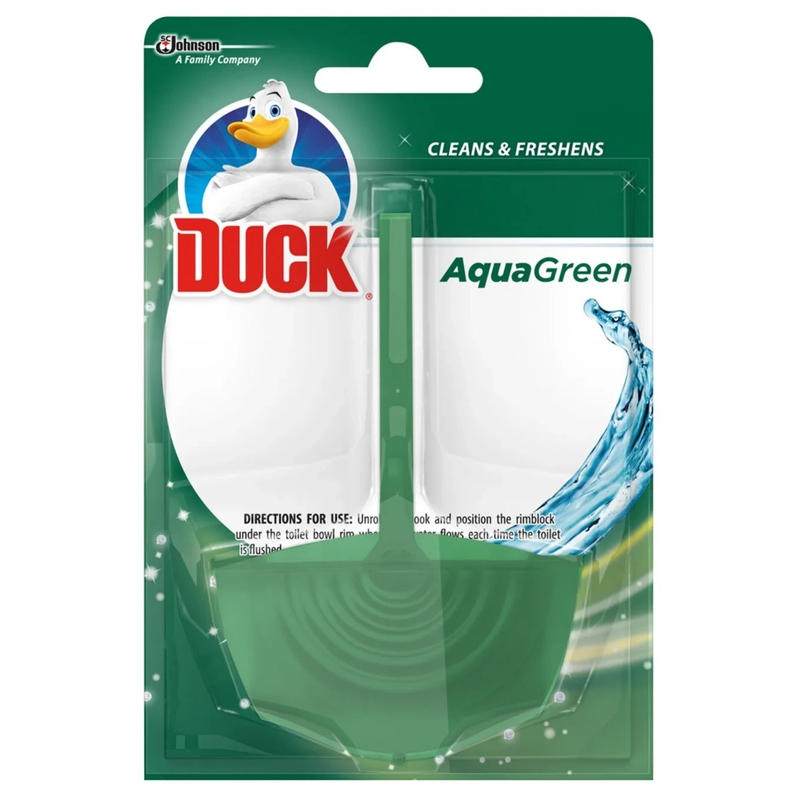 Туалетный блок Туалетный утенок Аква Зеленый (5000204739091)
