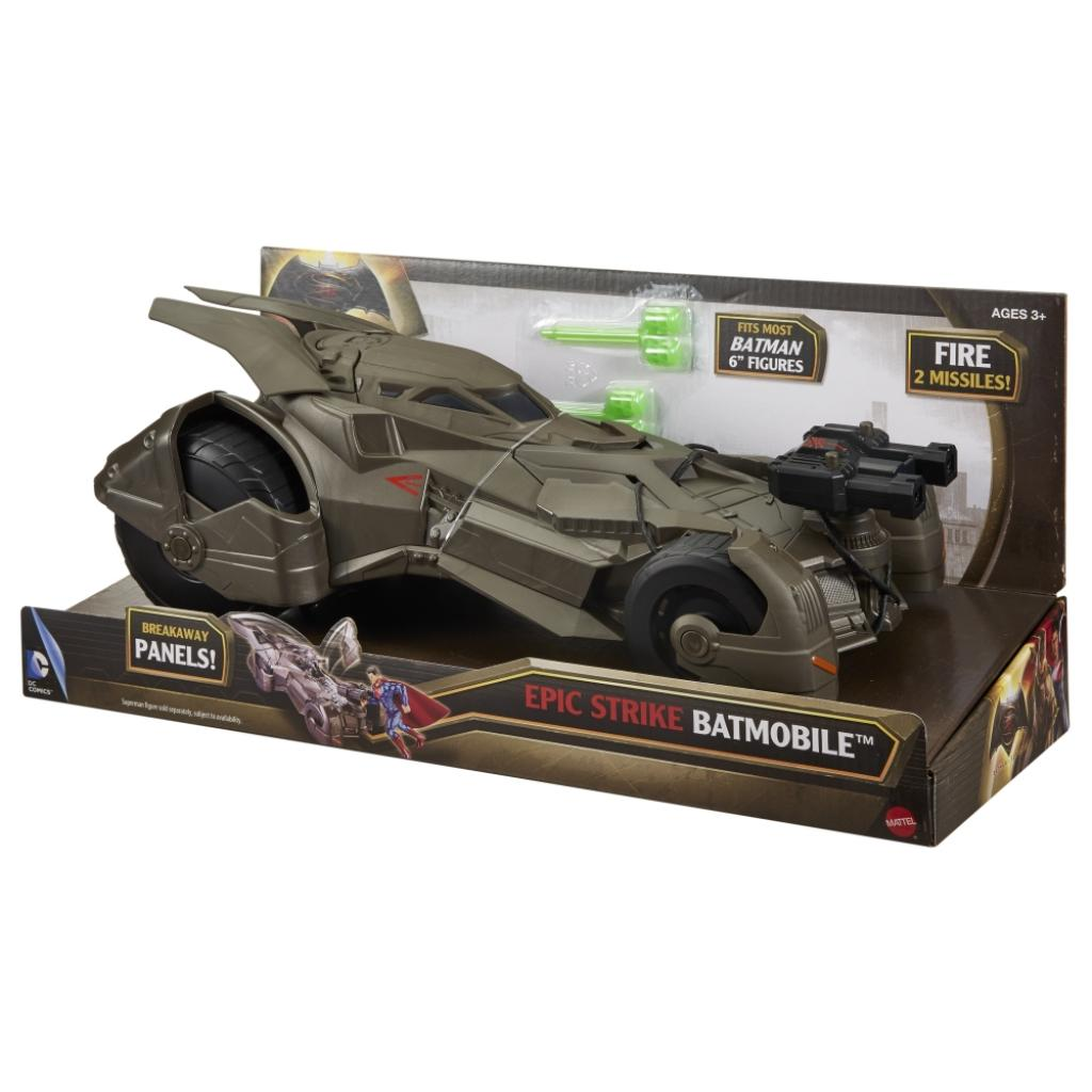 Игровой набор Mattel Бетмобиль Batman Делюкс Бэтмен против Супермена (DHY29)