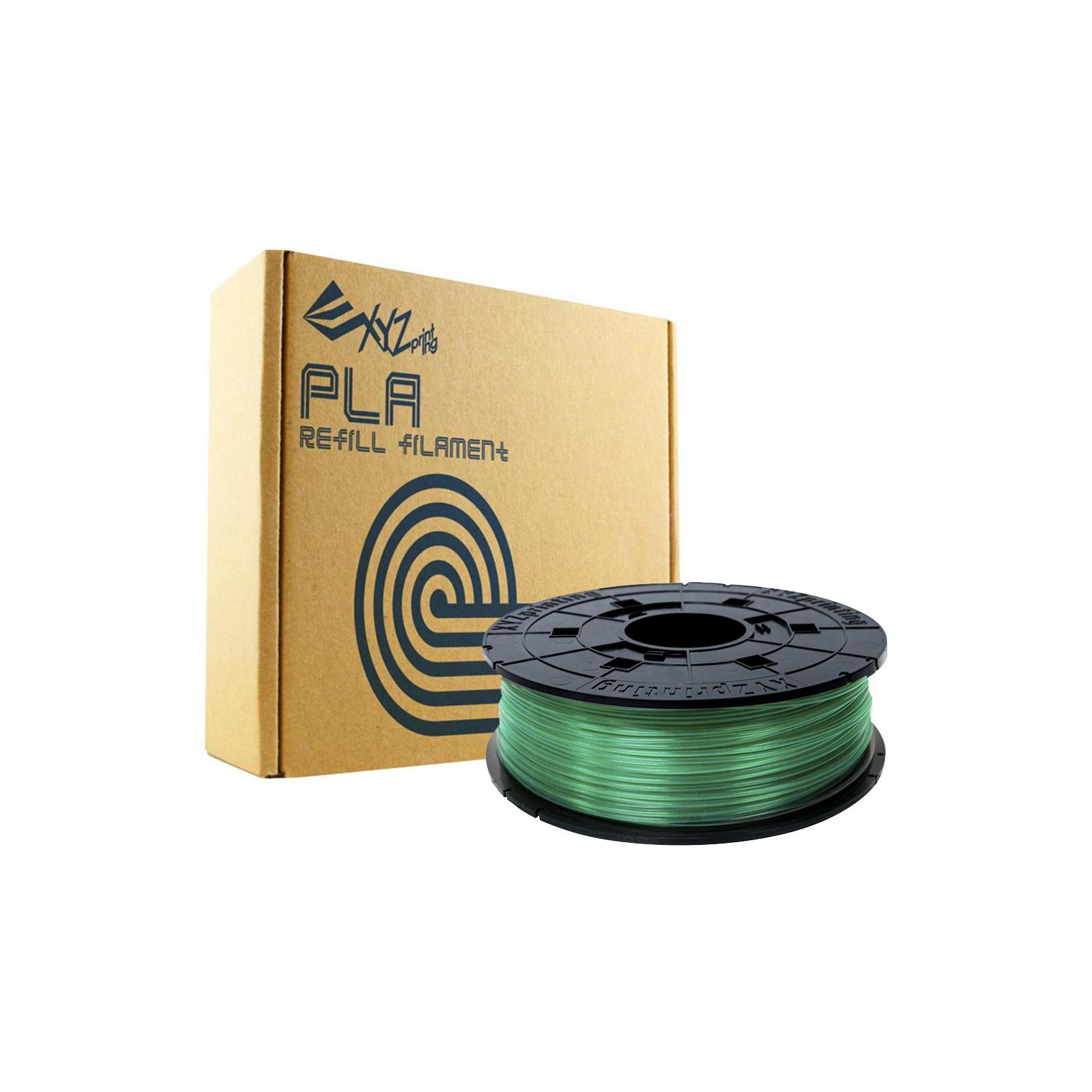 Пластик для 3D-принтера XYZprinting PLA 1.75мм/0.6кг Filament, Clear Green (RFPLBXEU04A) зображення 2