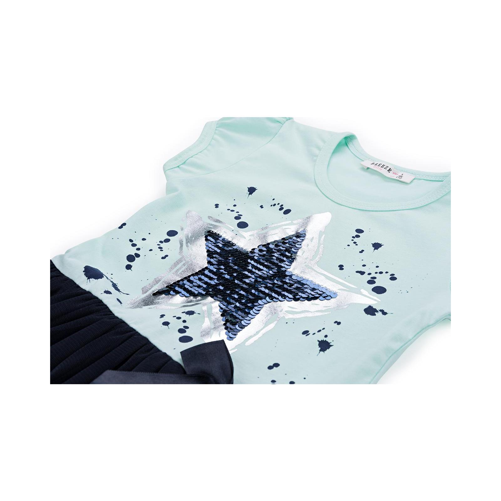 Платье Breeze со звездой-перевертышем (9777-128G-green) изображение 4