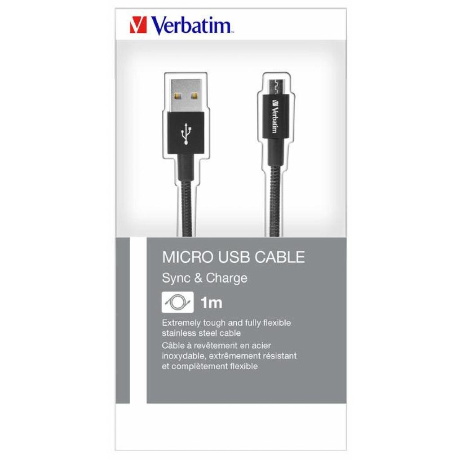 Дата кабель USB 2.0 AM to Micro 5P 1.0m black Verbatim (48863) изображение 7