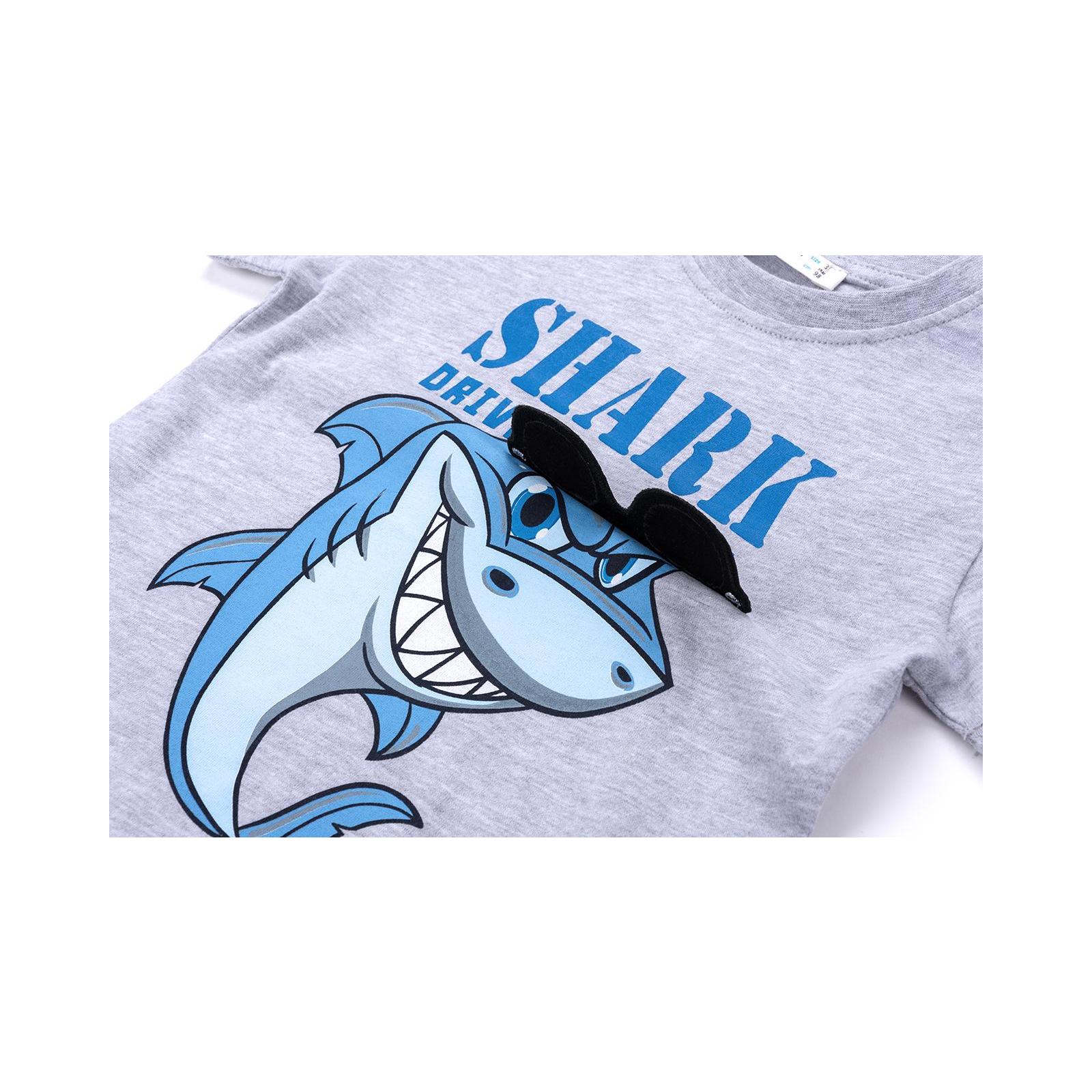 Набор детской одежды Breeze с акулой в очках (10931-110B-beige) изображение 9