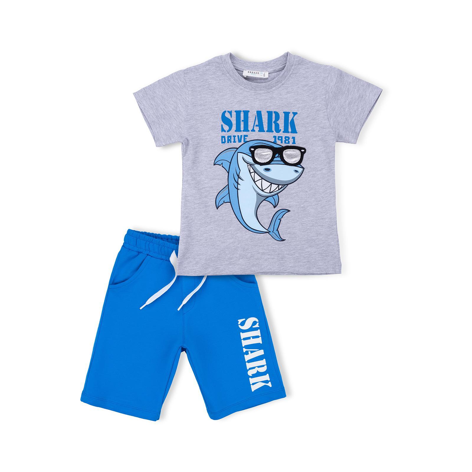 Набор детской одежды Breeze с акулой в очках (10931-110B-beige)